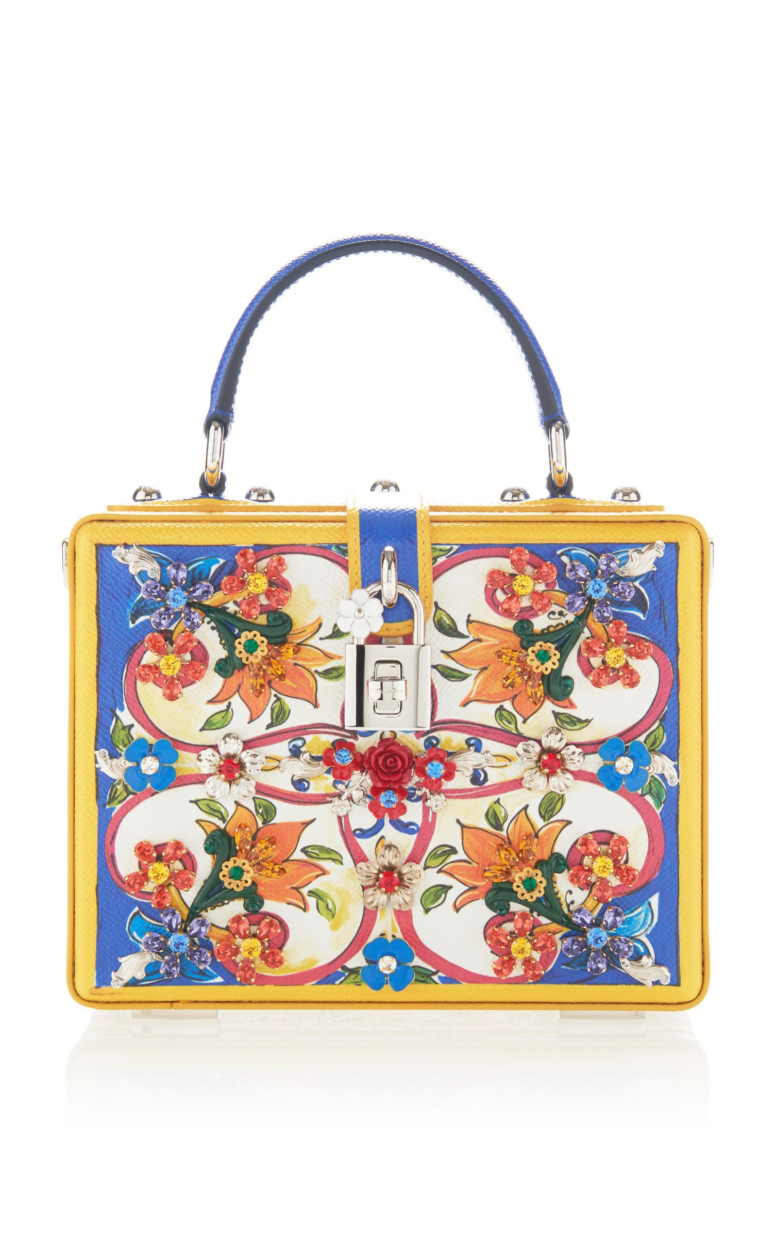 Dolce   Gabbana. Women s Printed Dauphine Leather Handbag 5cf27a375182f