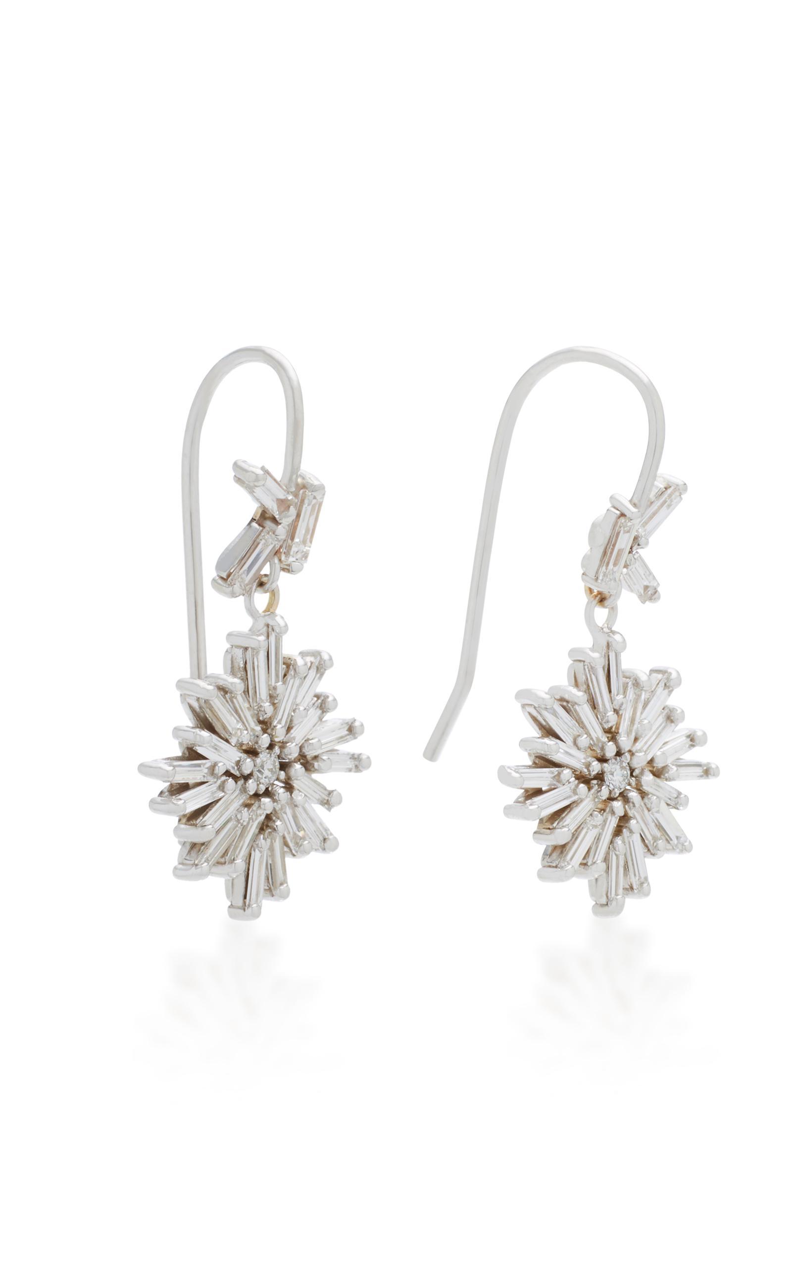 18K White Gold Diamond Earrings Suzanne Kalan JlWJ6gBSe