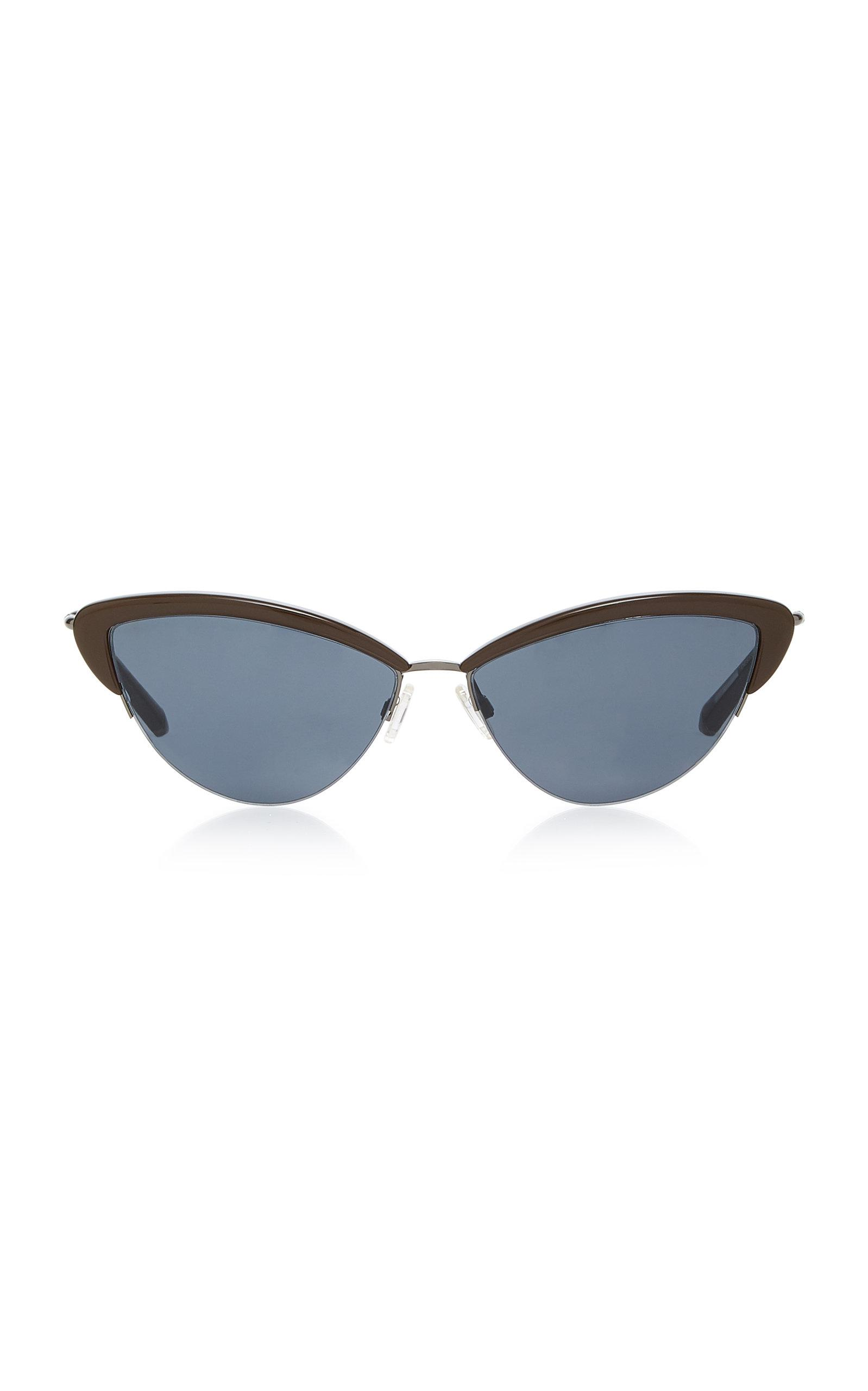 Ally Cat-Eye Acetate And Stainless-Steel Sunglasses Kate Young for Tura VHvrqffU