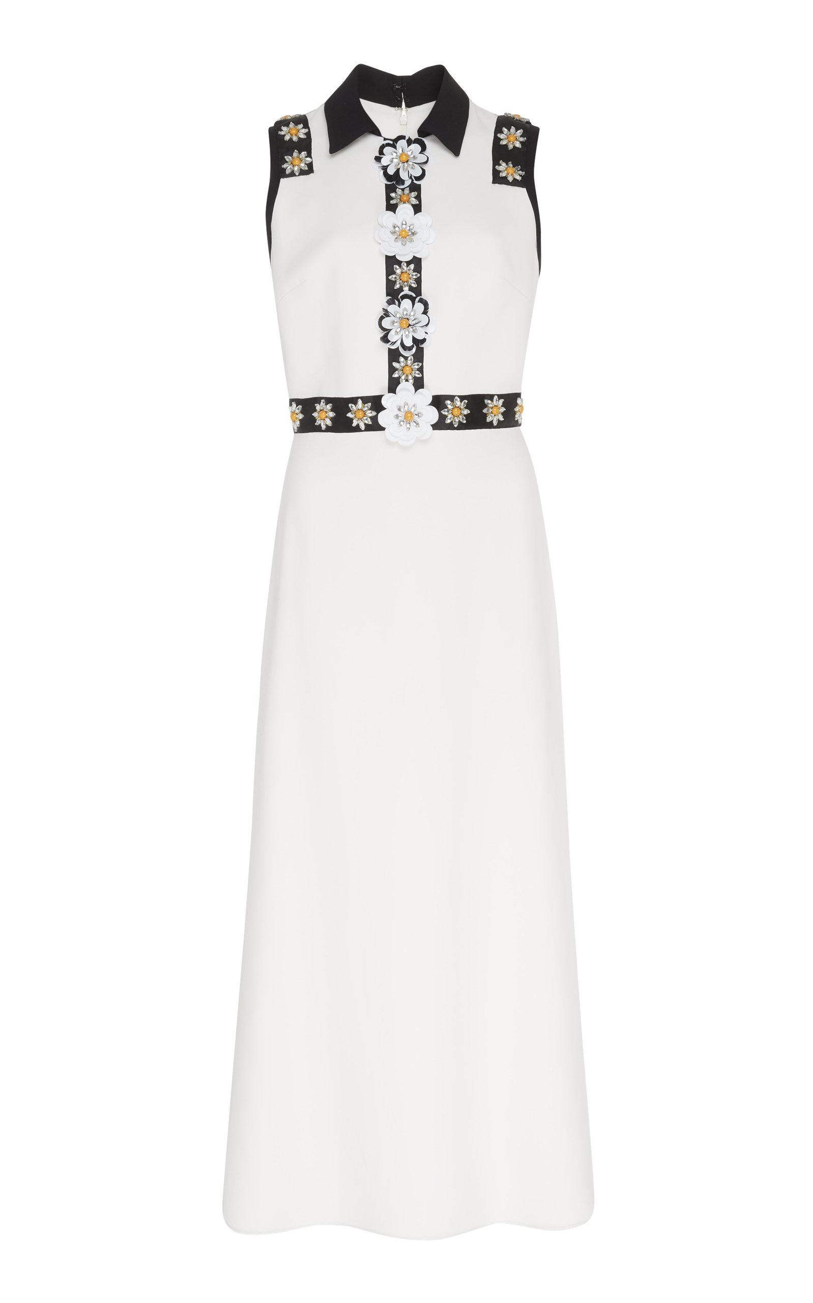 aa6531a8628 Lyst - Elie Saab Flutter Midi Dress in White