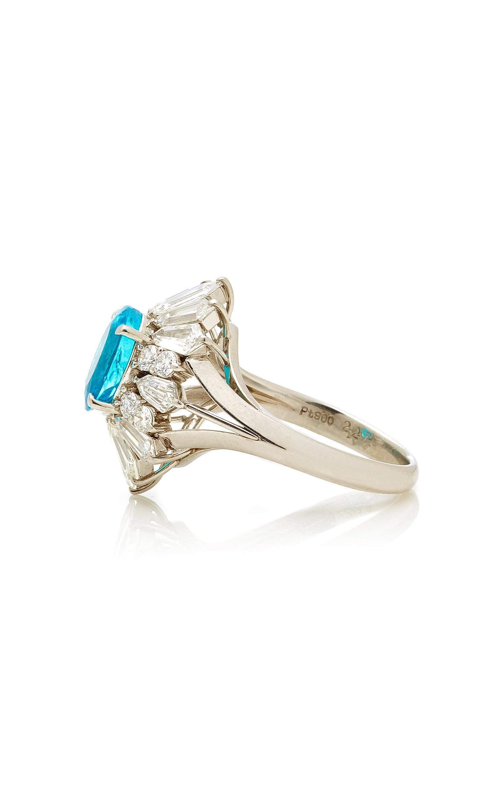 Martin Katz Paraiba Tourmaline Ring in Blue