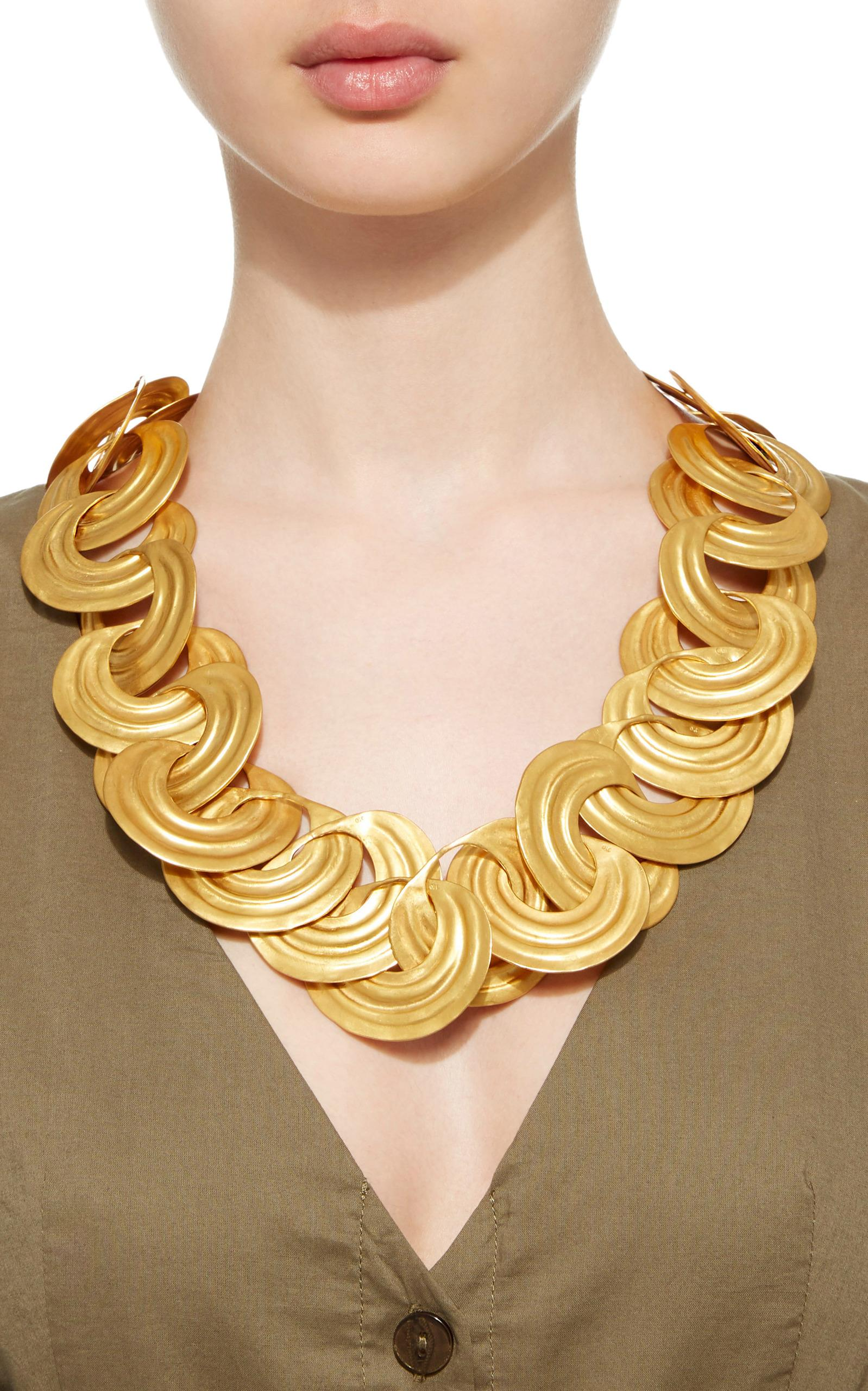LA Cano Nariguera Xl Necklace in Gold (Metallic)