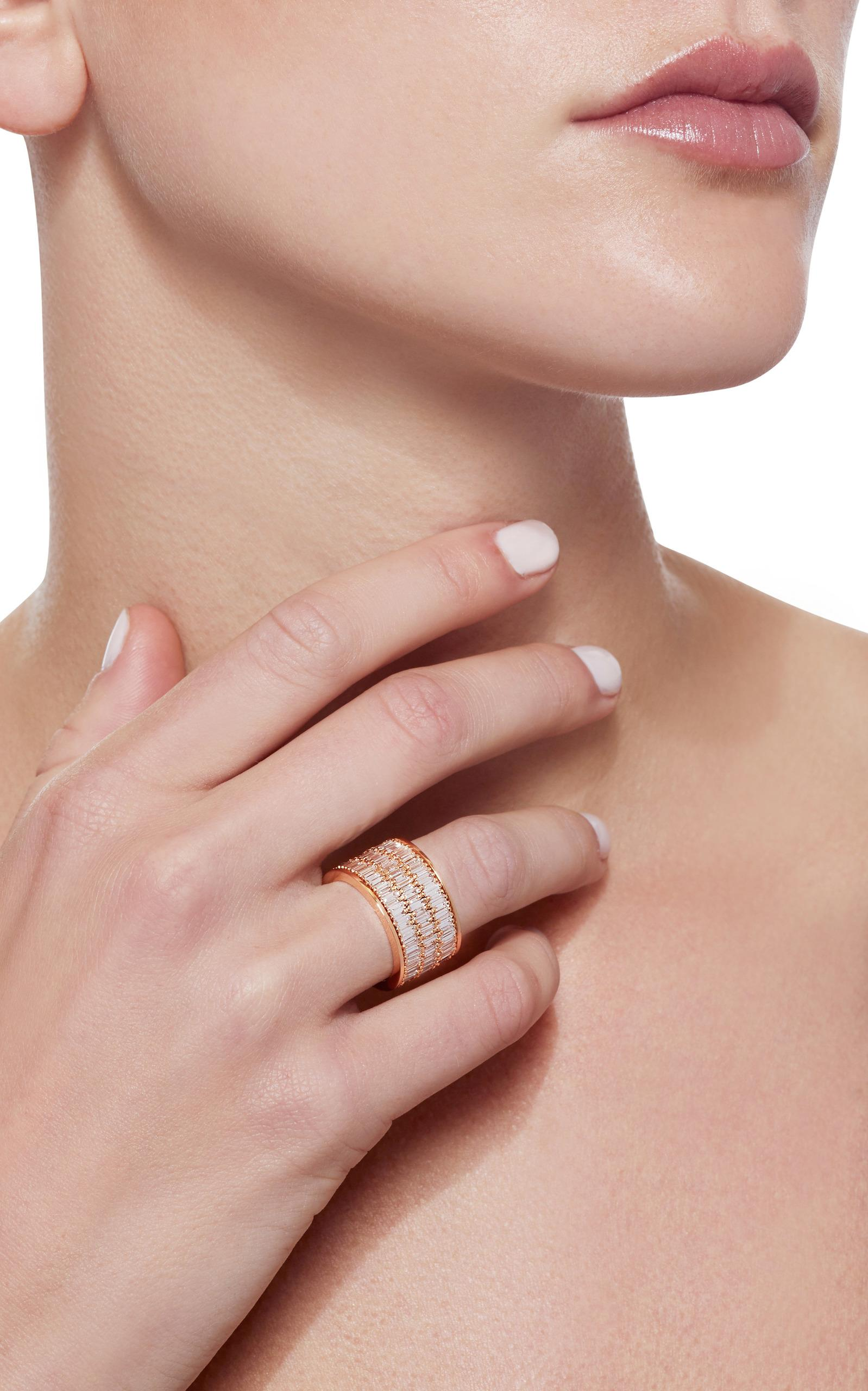 Suzanne Kalan Rose Gold Eternity Band in Pink