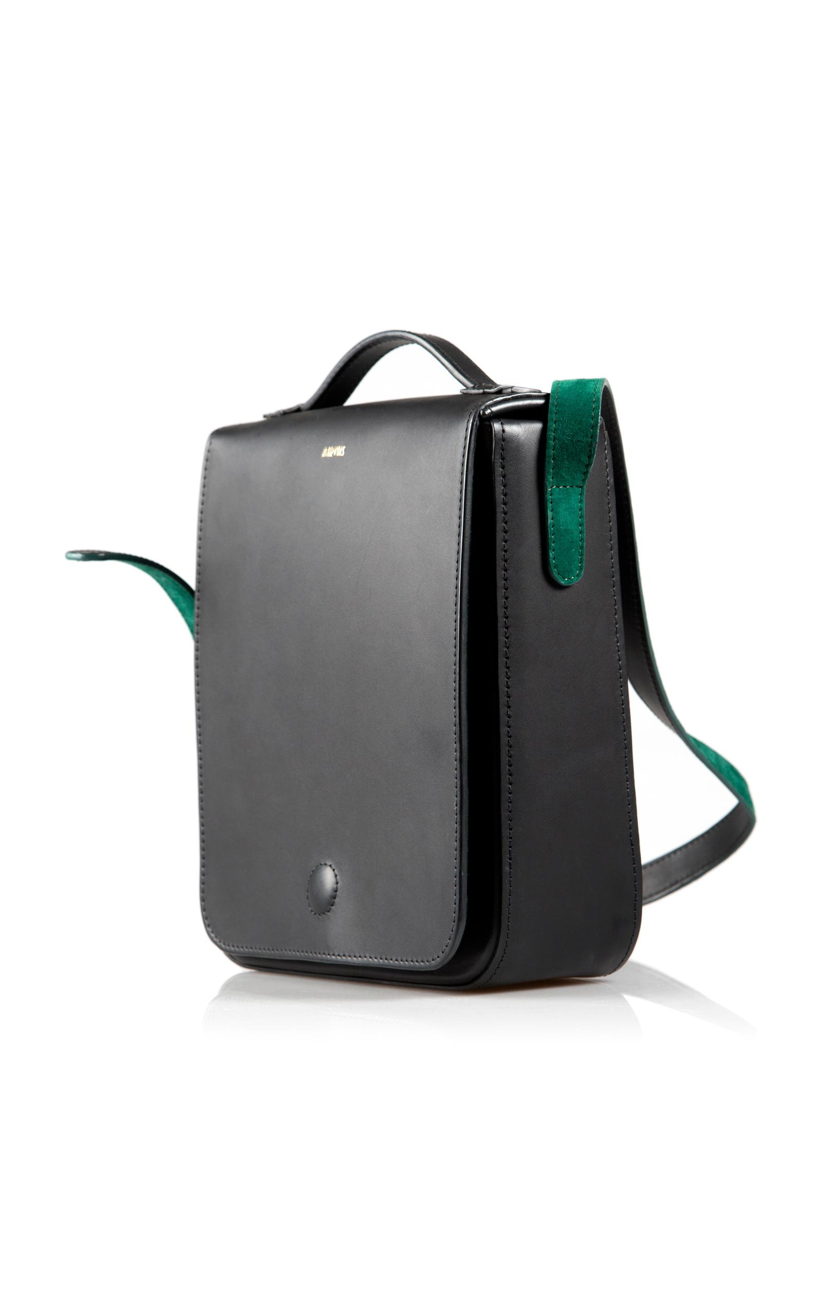 Marvais Leather Charlie Crossbody in Black