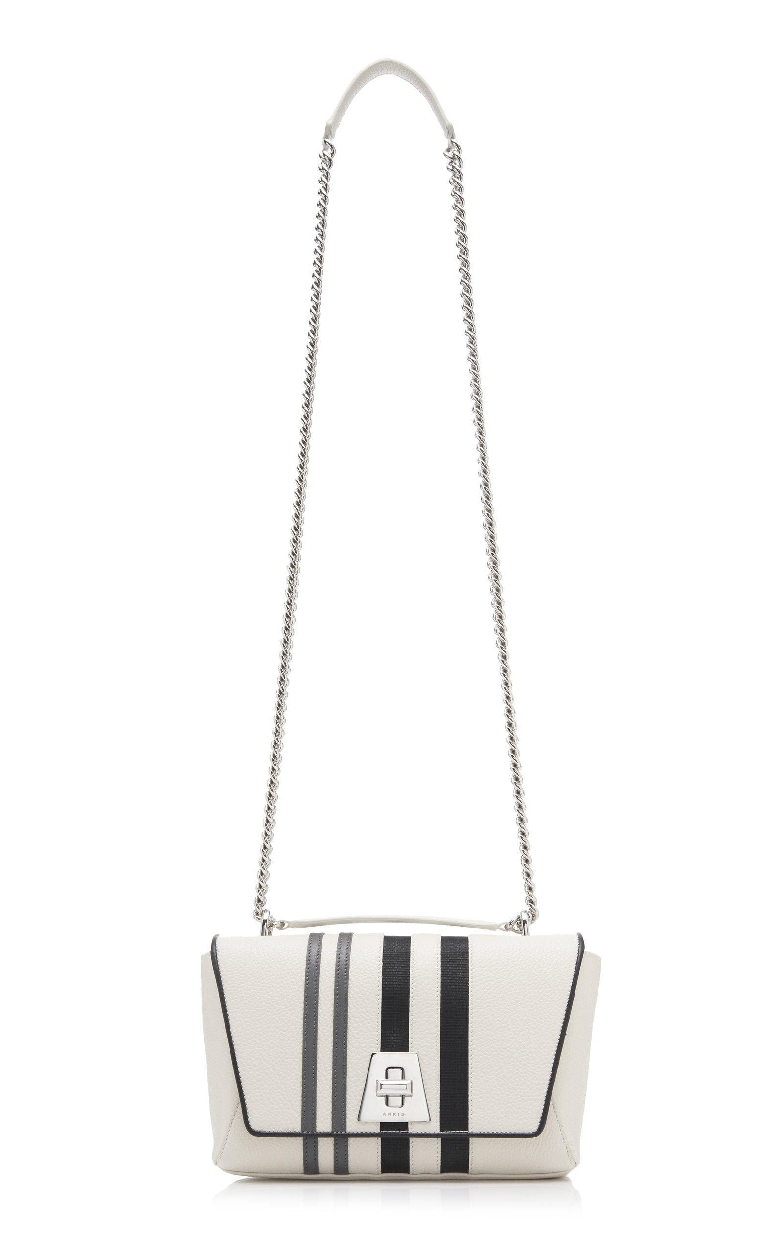 9de58a5ac9 Lyst - Akris Anouk Small Striped Leather Day Bag in White