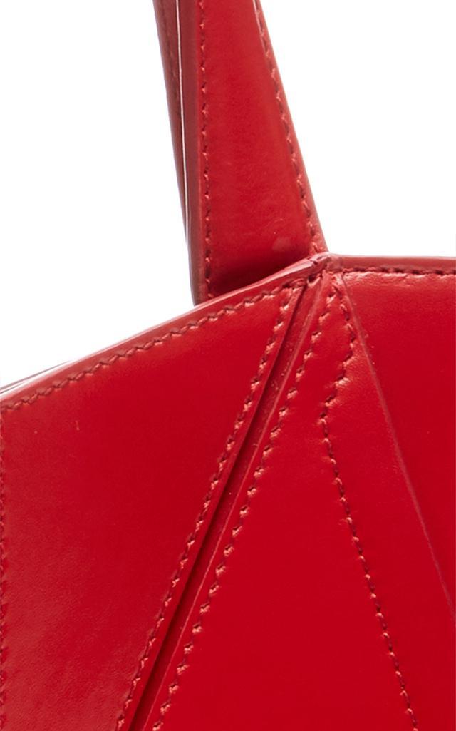 Cushnie et Ochs Leather Mini James Tote in Red