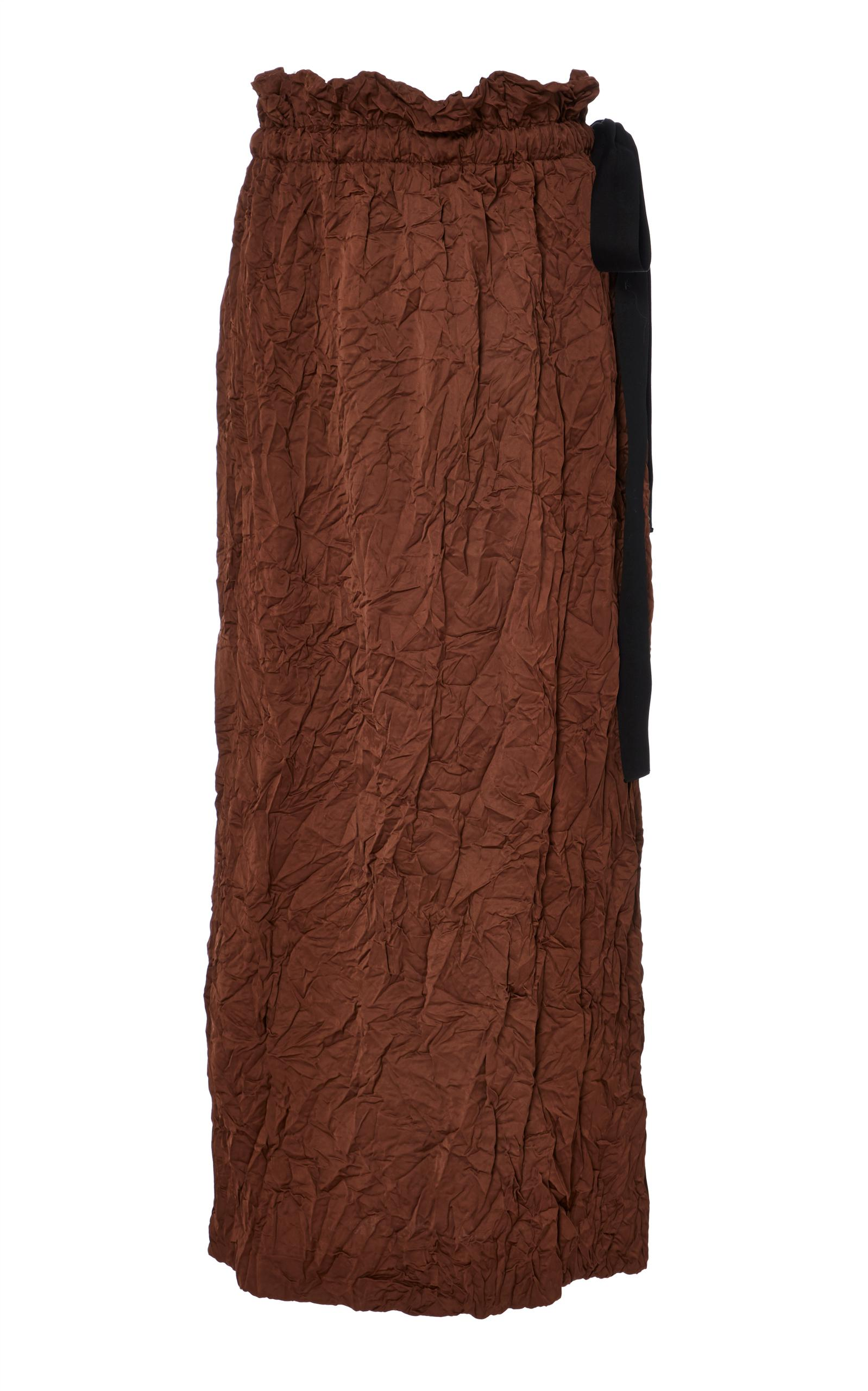 Clip Brown straight skirt