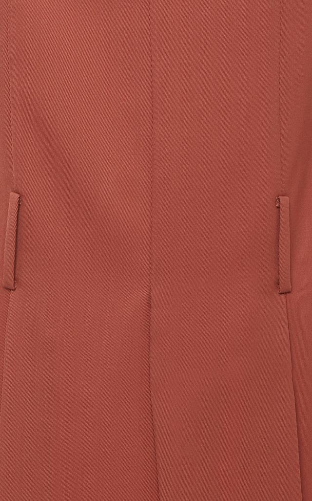 Victoria Beckham Synthetic Light Gabardine Kick Skirt in Red