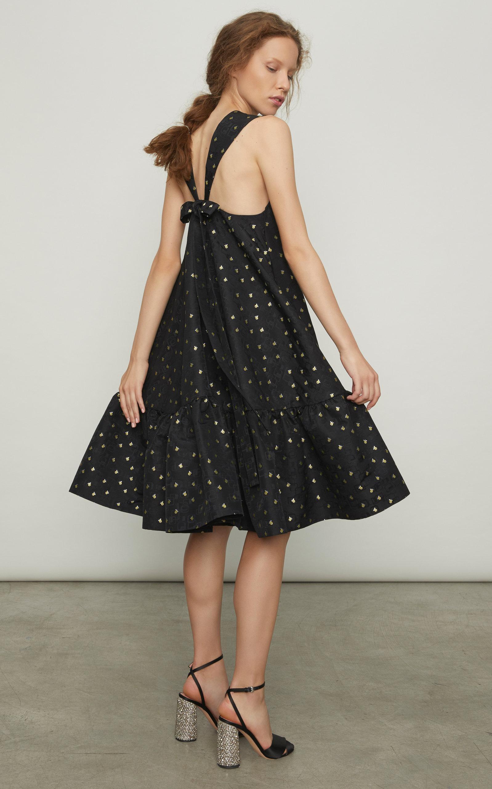 Otto Trapeze Print Dress Rochas Cheap With Mastercard bdwENZ