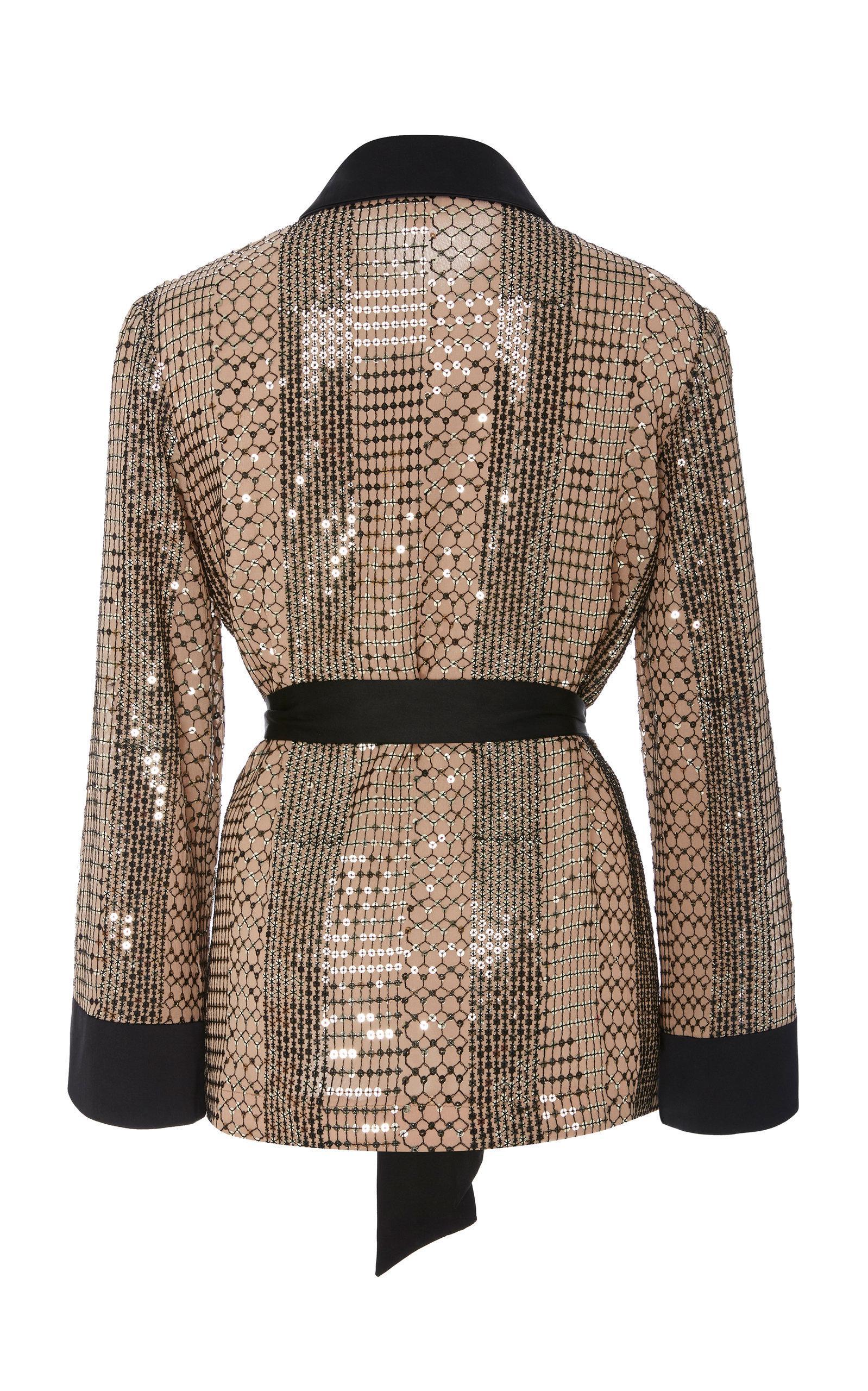 Temperley London Synthetic Platinum Shirt in Gold (Metallic)