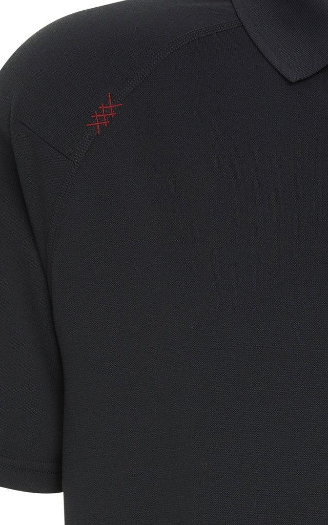 Rhone Synthetic Lightweight Delta Polo in Black for Men
