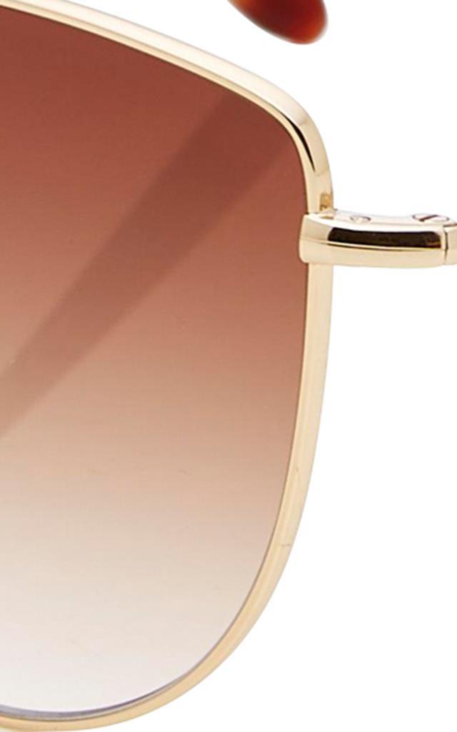 Garrett Leight Zephyr 57 Gold-tone Sunglasses in Brown