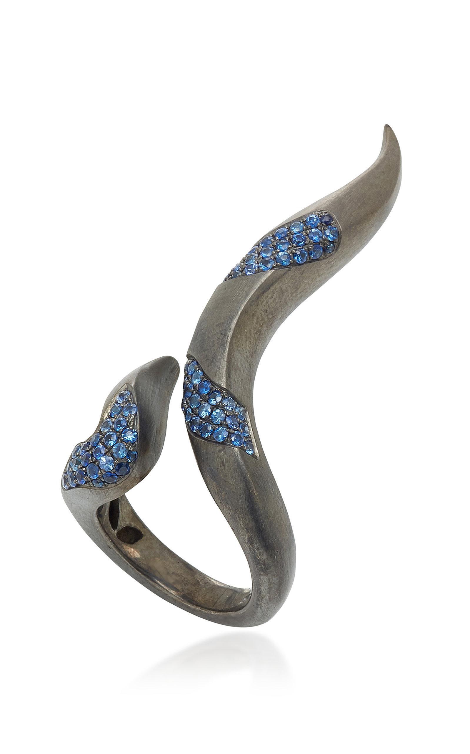 Gaelle Khouri Seperation Ring in Blue