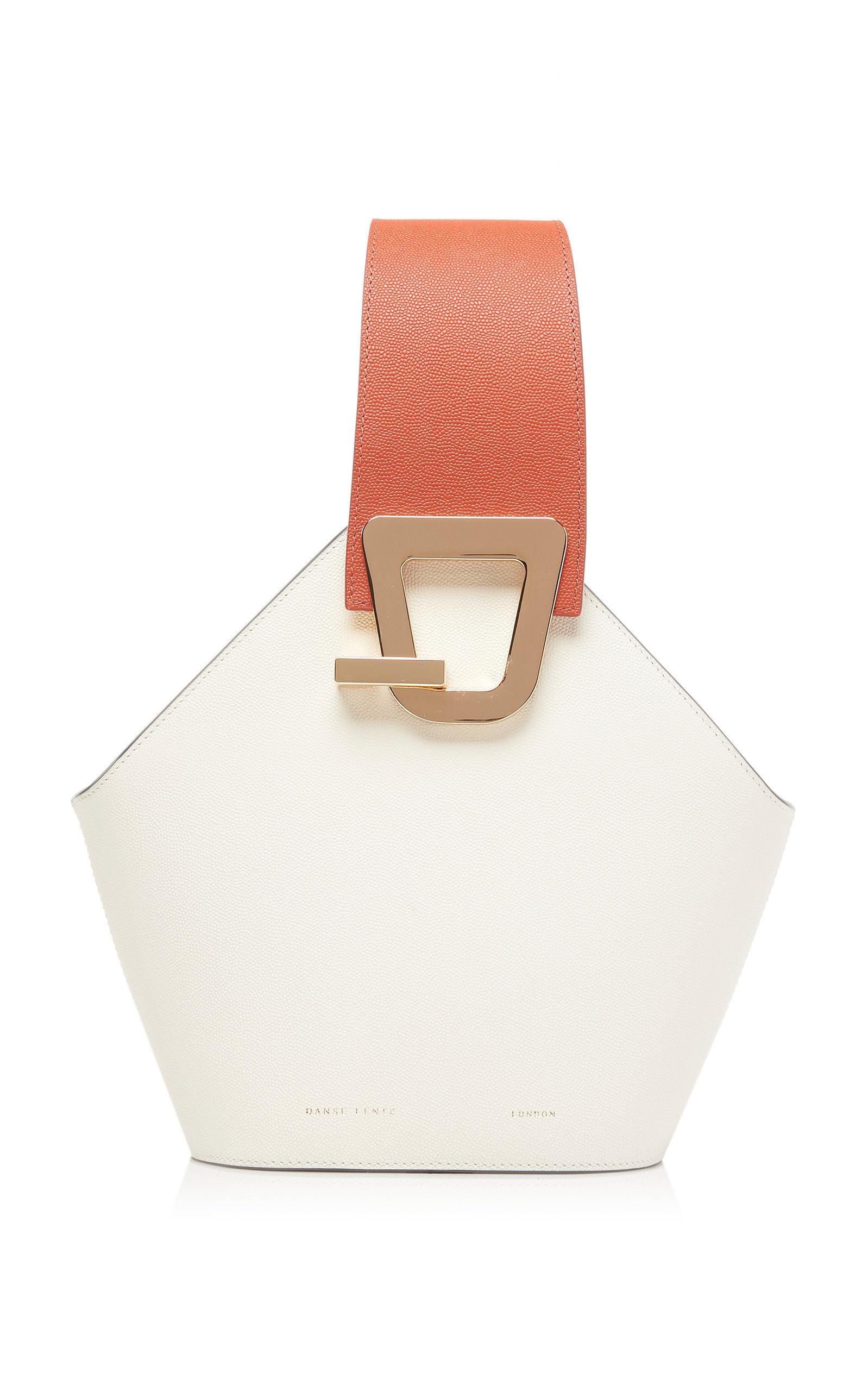 9c35107d7832 Danse Lente Johnny Mini Leather Bucket Bag in White - Lyst