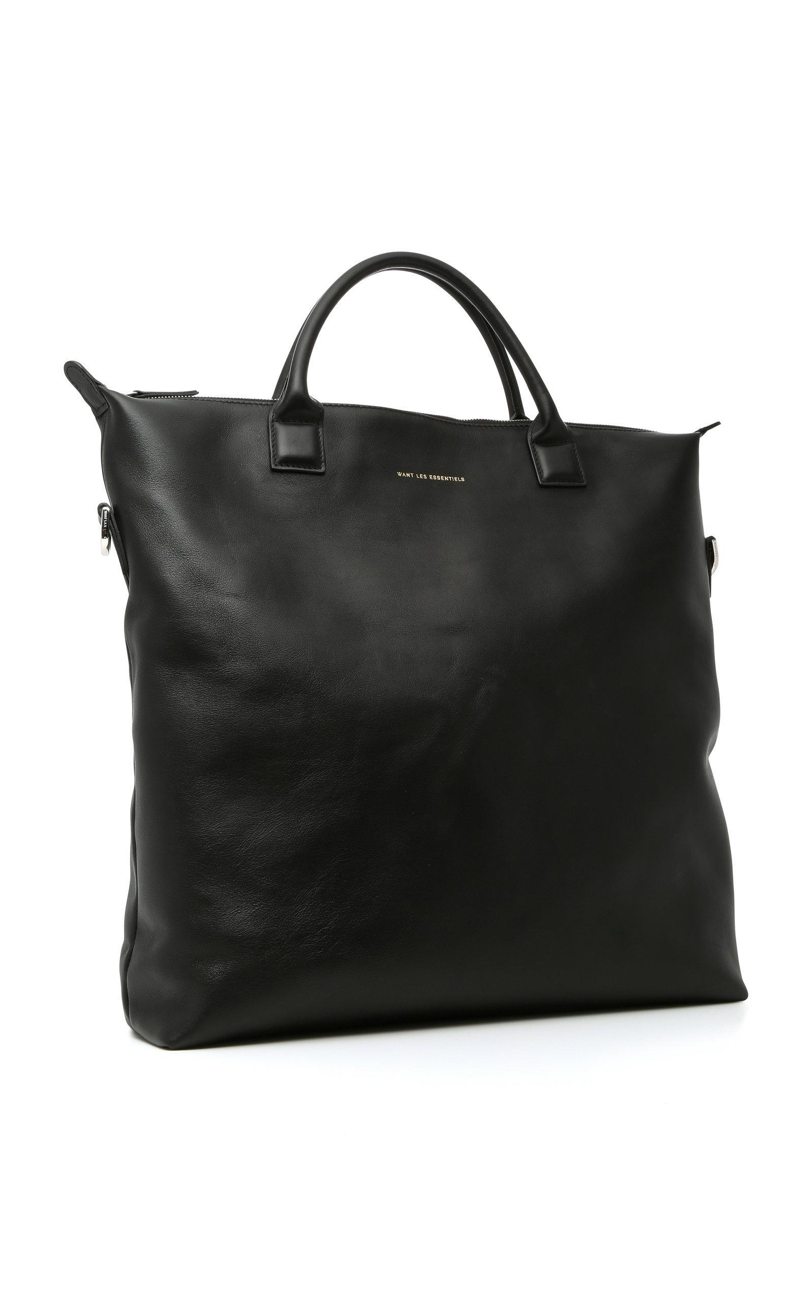 Want Les Essentiels De La Vie Ohare Large Leather Tote in Black for Men