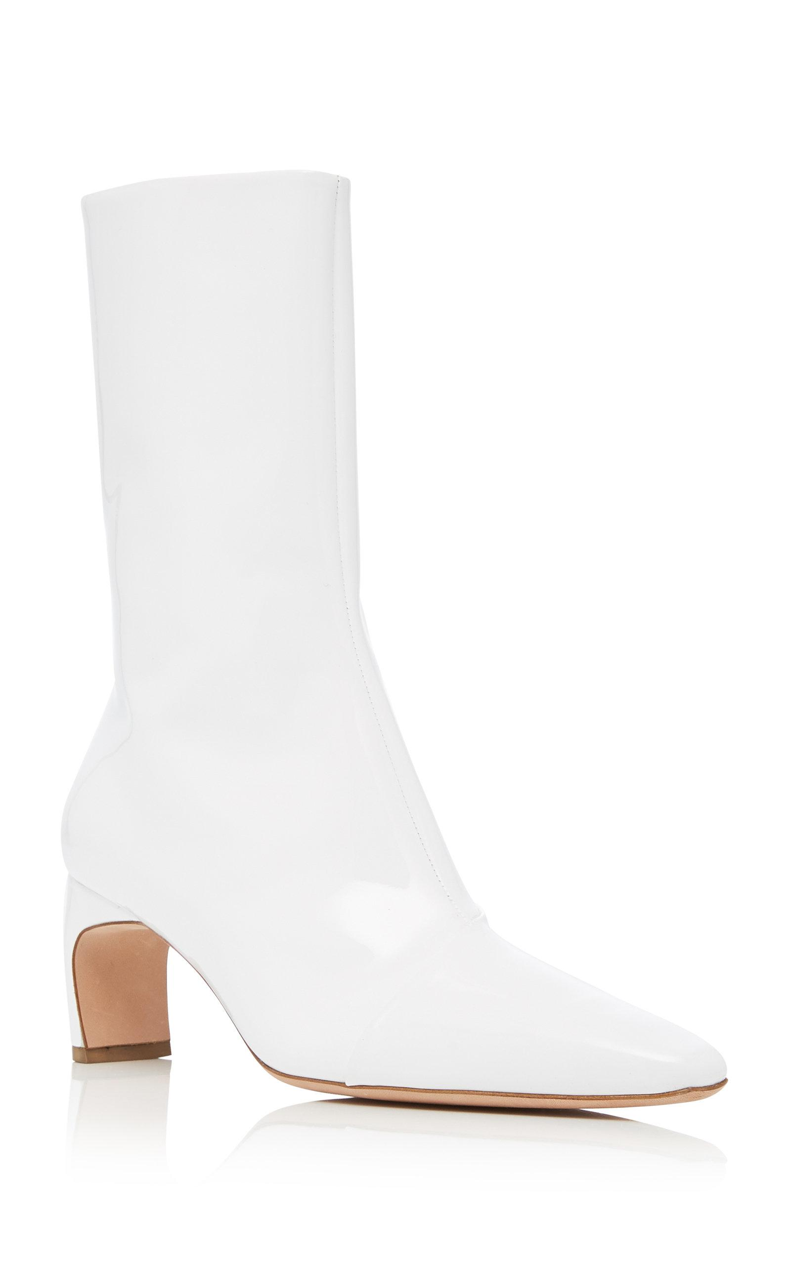 Rosetta Getty Leather Heeled Boot in White