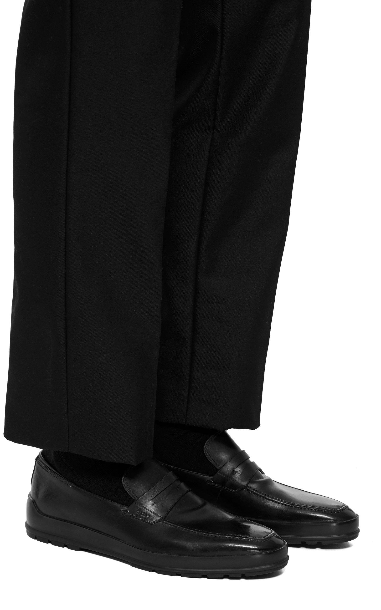 381041cd5bf Lyst - Bally Relon Calfskin Penny Loafers in Black for Men