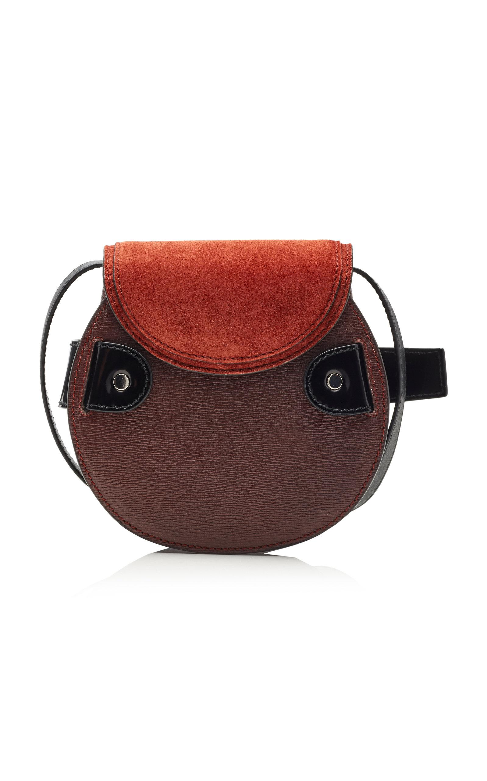 RED WESTERN CROSS WINGS AND BROWN SEQUENCE LOOK SHOULDER HANDBAG CONCEALED CARRY