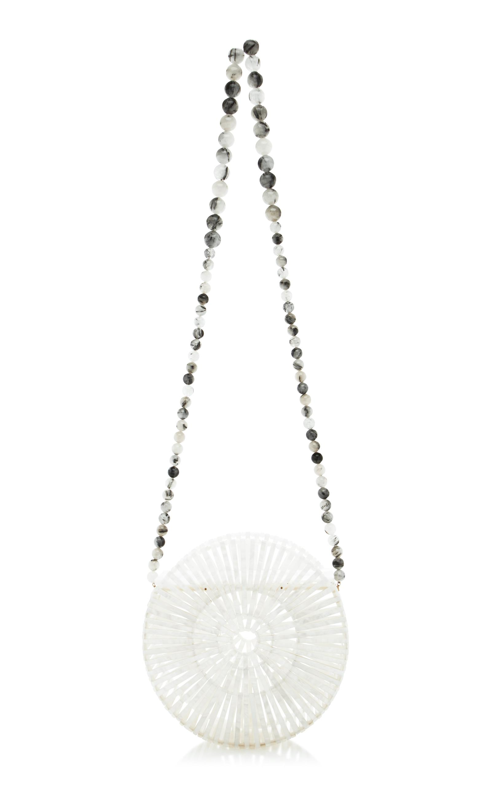 Cult Gaia Synthetic Acrylic Luna Cross Body Bag in Pearl (White)