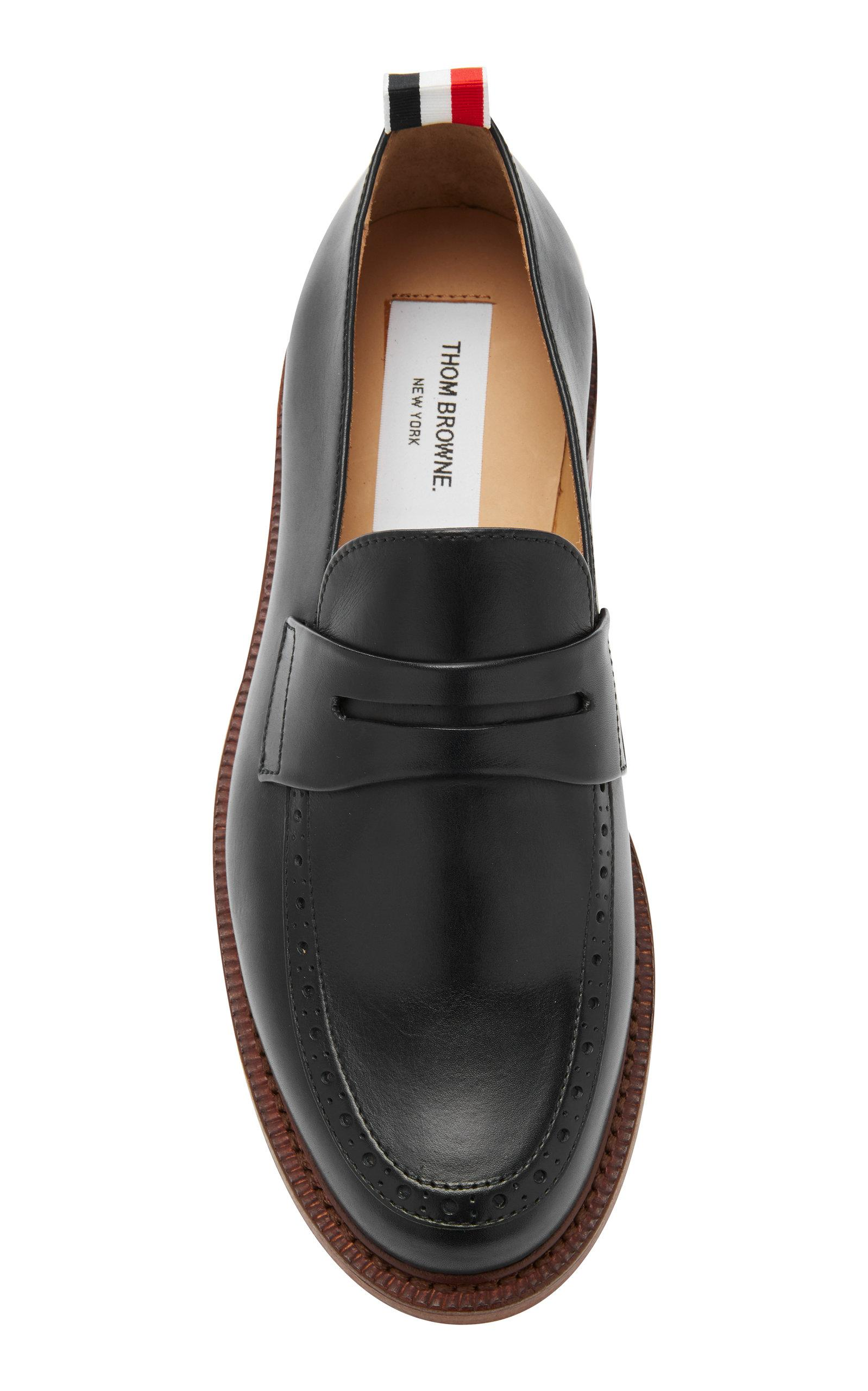 Thom Browne Exclusive Leather Loafers in Navy (Blue) for Men