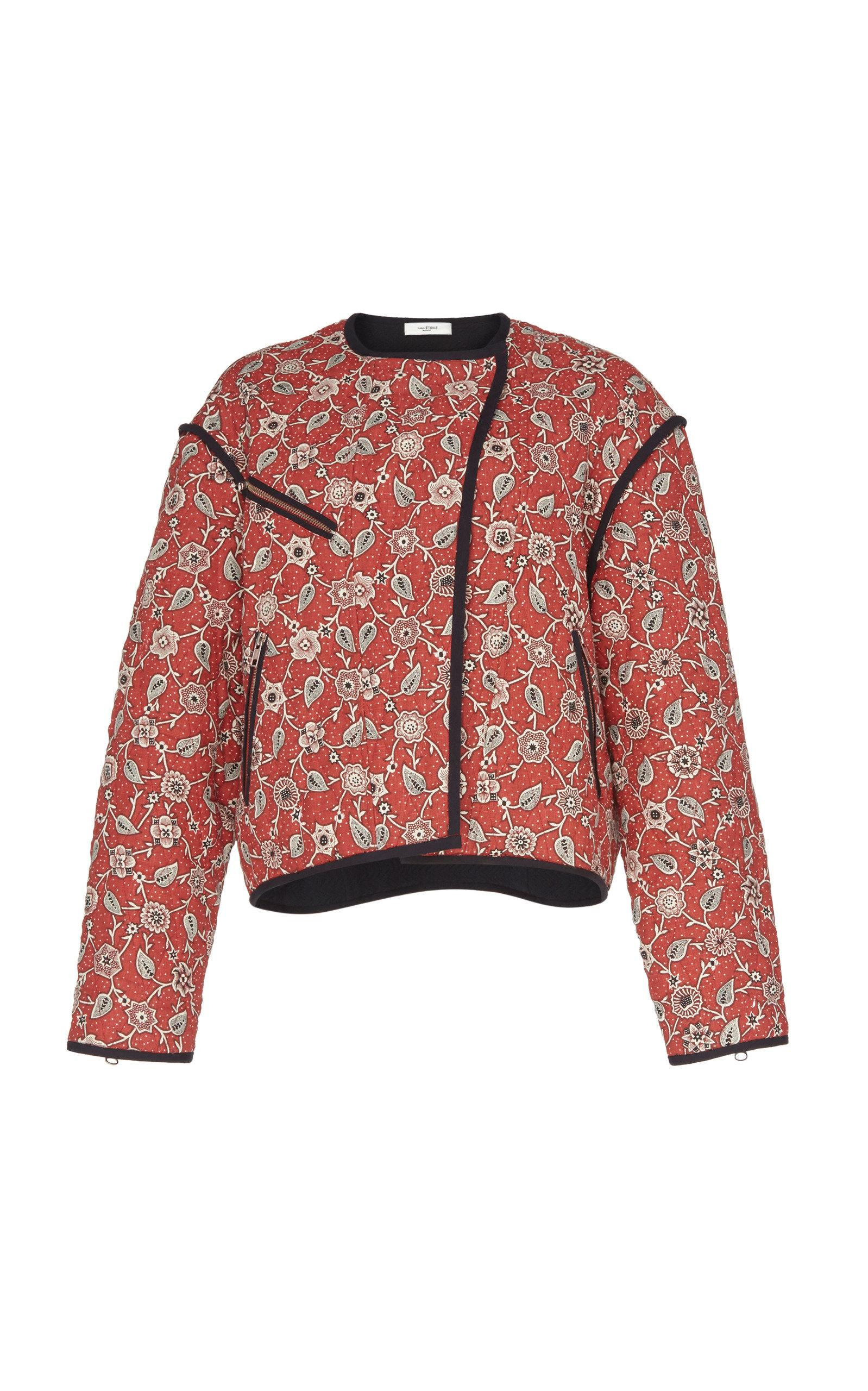 d78a171e2db Étoile Isabel Marant. Women's Manae Printed Quilted Linen Jacket