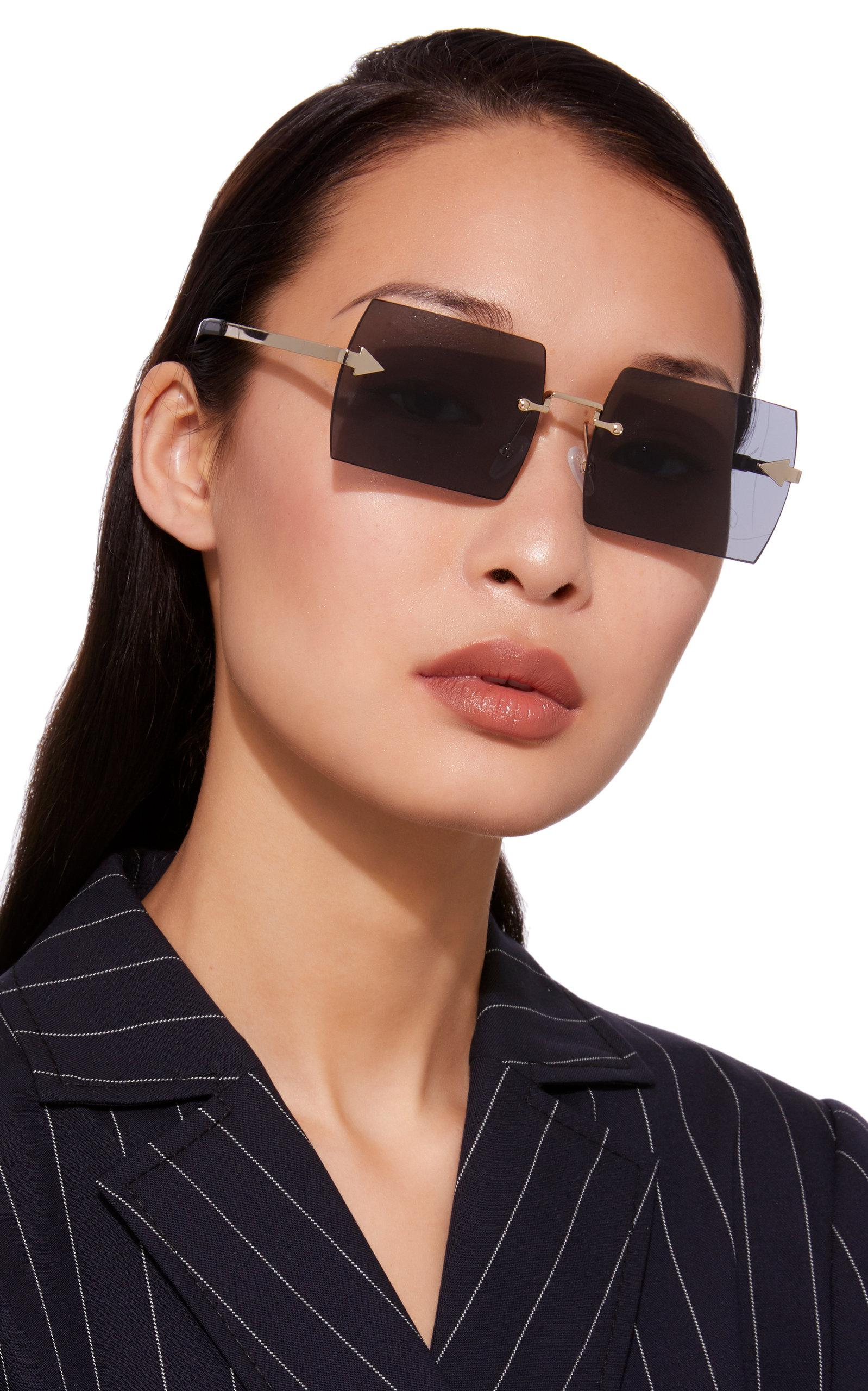 2e5cc3f12e8 Lyst - Karen Walker The Bird Square Sunglasses in Gray