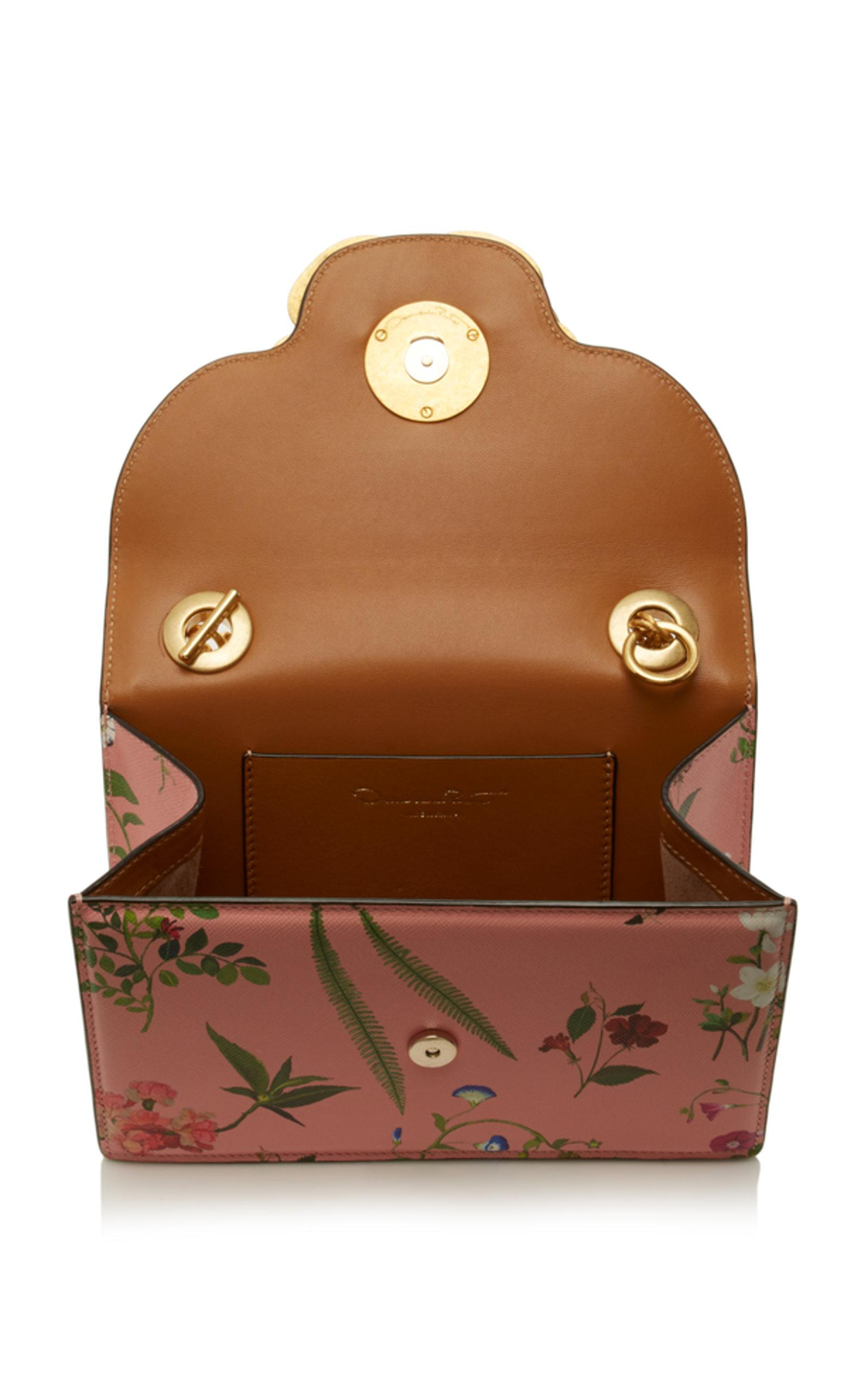 Oscar de la Renta Leather Tro Single Compartment Crossbody Bag