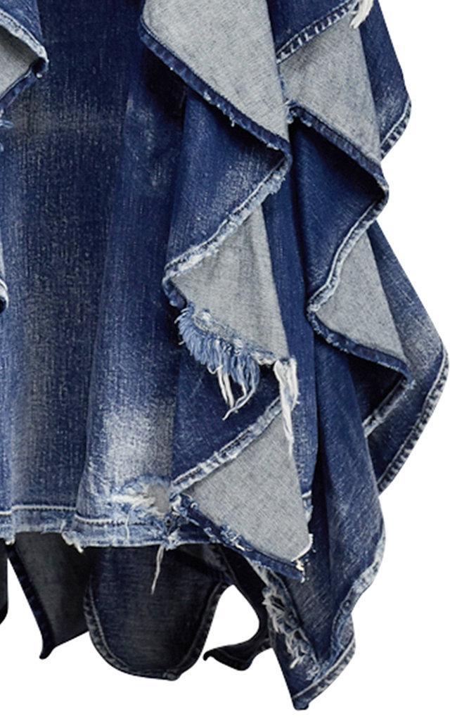 a0d03adbee22 Lyst - Ralph Lauren Denim Eve Evening Dress in Blue
