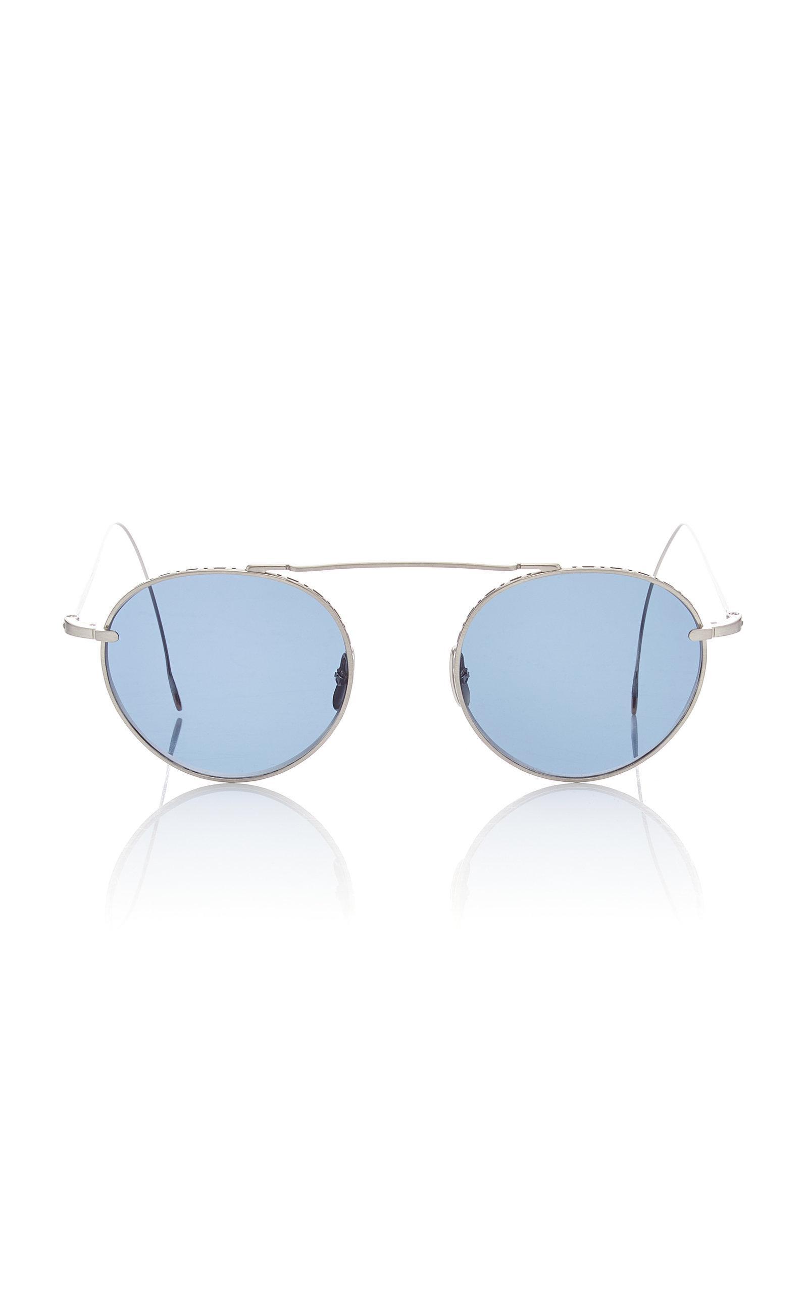 bb7fa21e0e7a80 Lyst - Mr. Leight Rei 49 Aviator-style Titanium Sunglasses in Blue