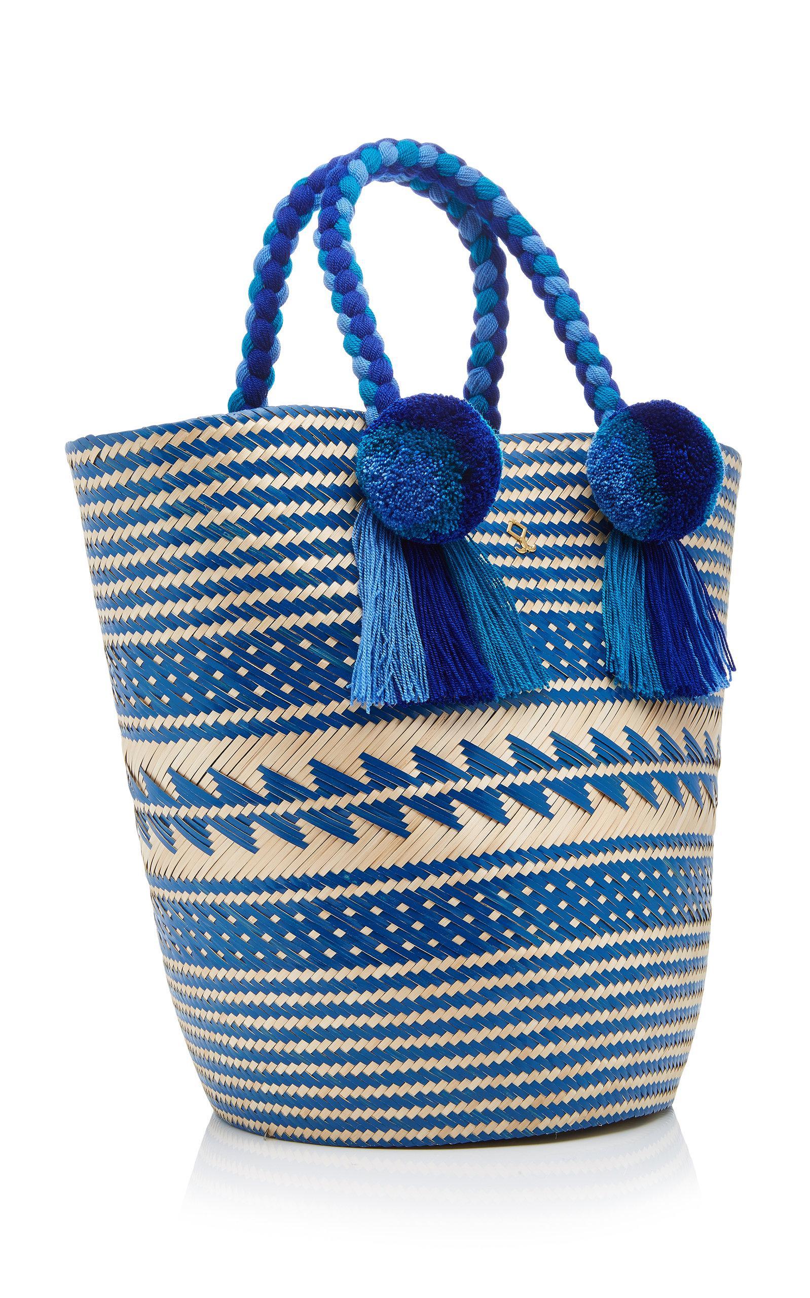 Yosuzi Cotton Anisa Tote in Blue