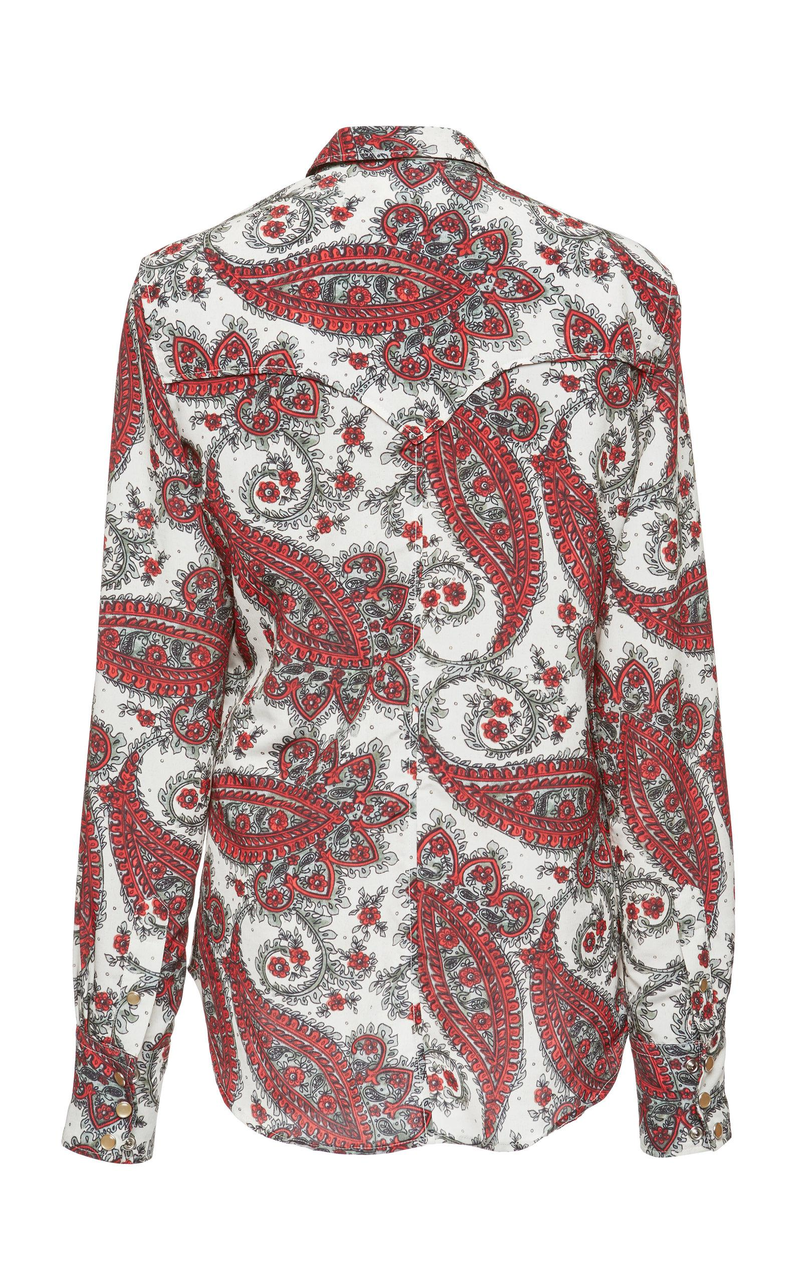 Isabel Marant Synthetic Tania Shirt in Red