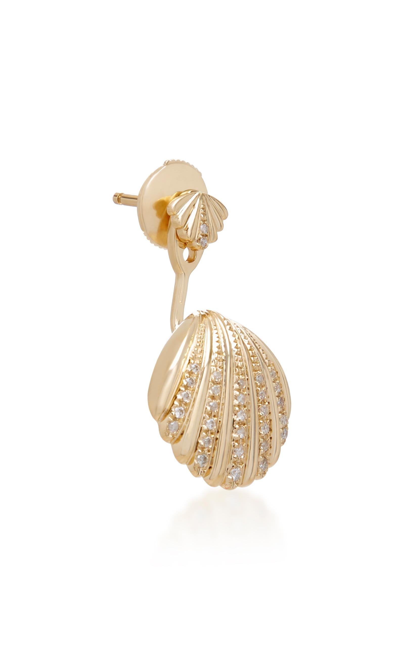 Yvonne Léon puce diamond earring - Metallic 8G4uEvlSXZ