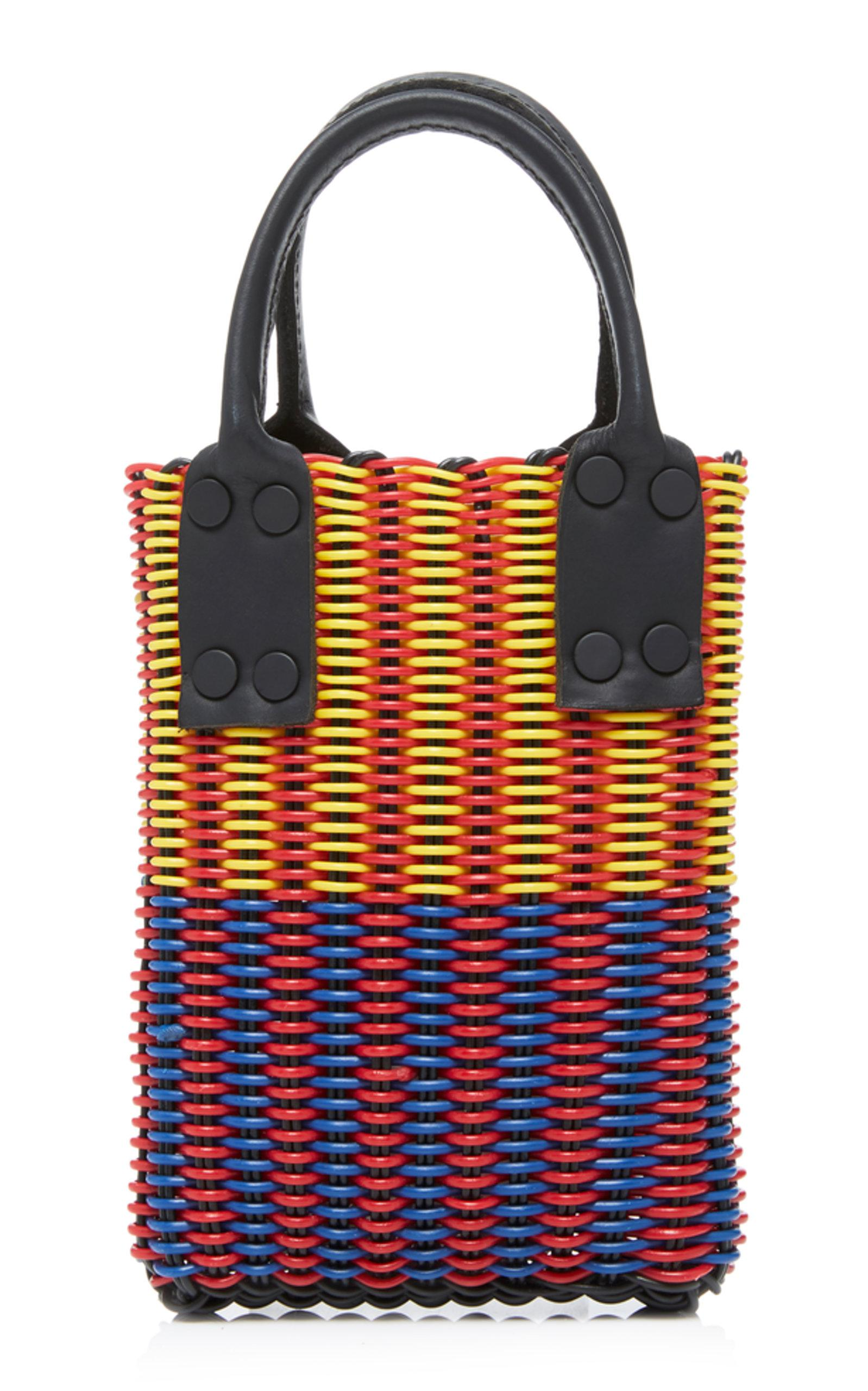 Truss Micro Tube Weave Tote With Leather Handle CYsV6
