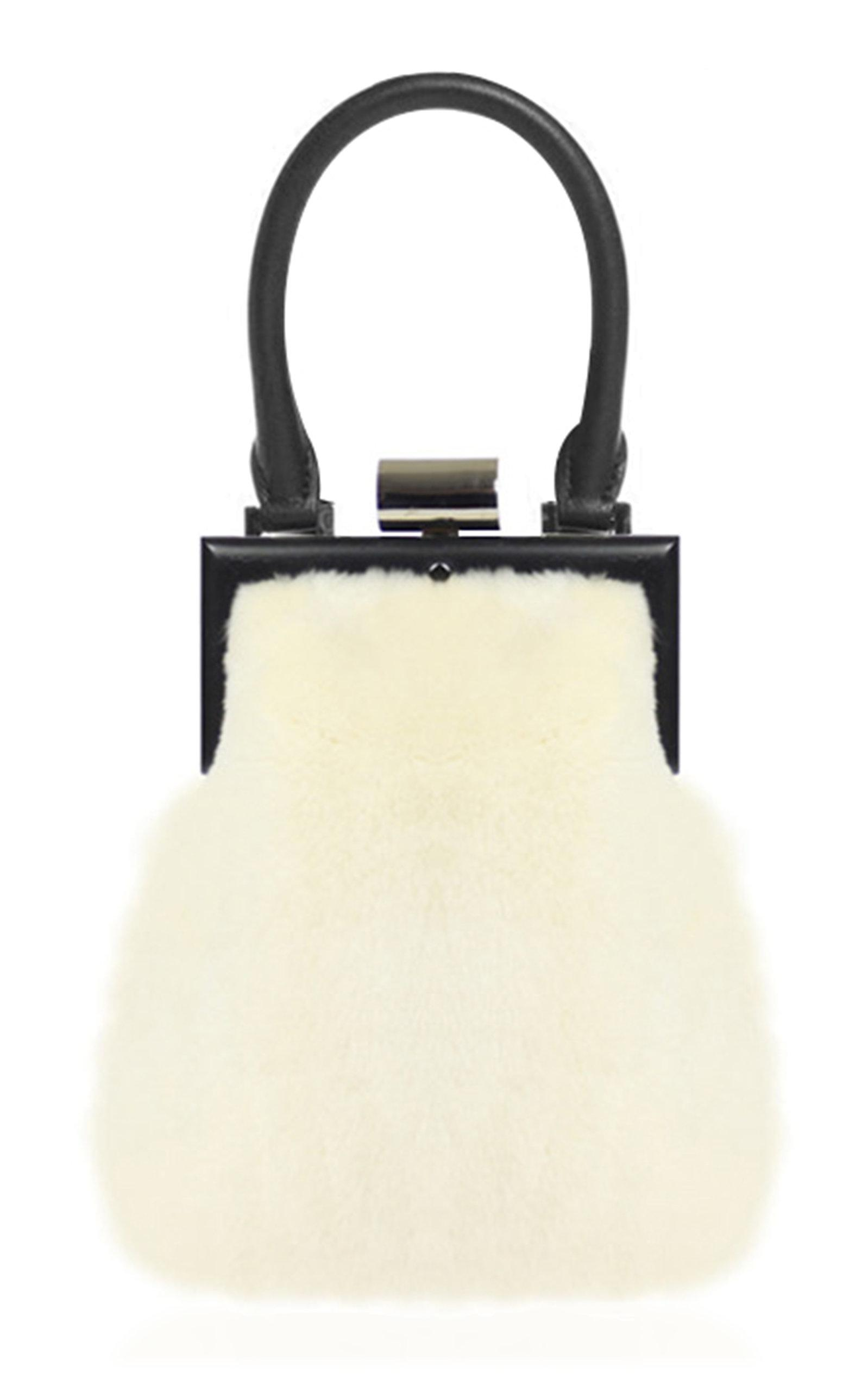 78853ff438 Lyst - PERRIN Paris Fur La Minaudiere in White
