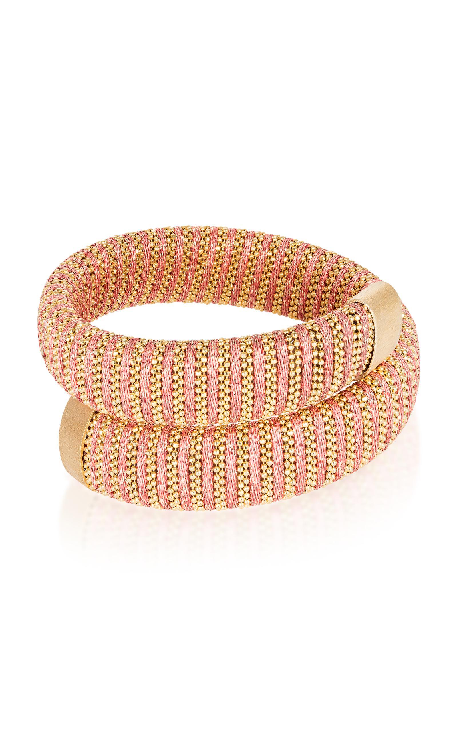 Magenta Caro Gold-Plated Bracelet Carolina Bucci oGx0E
