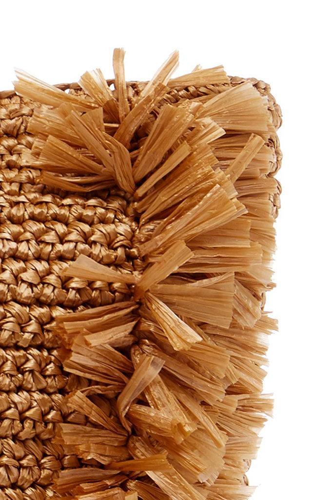 Carolina Santo Domingo Synthetic Large Corallina Raffia Tote in Gold (Metallic)