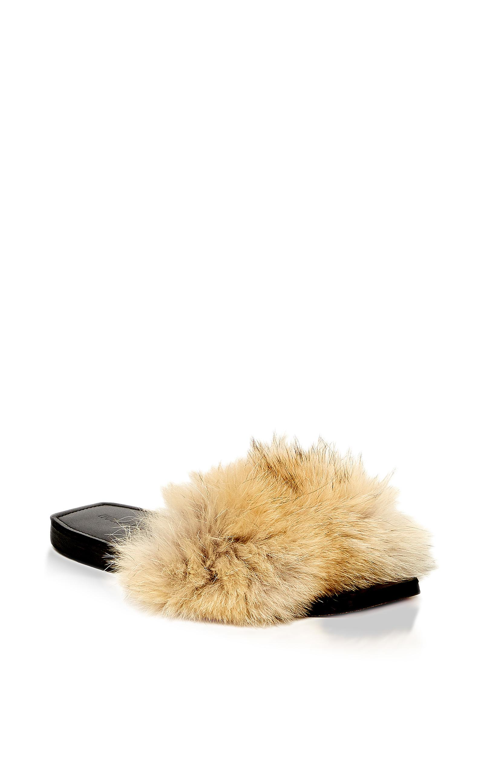 68123913f8875 Lyst - Parme Marin Furry Baby Sandals