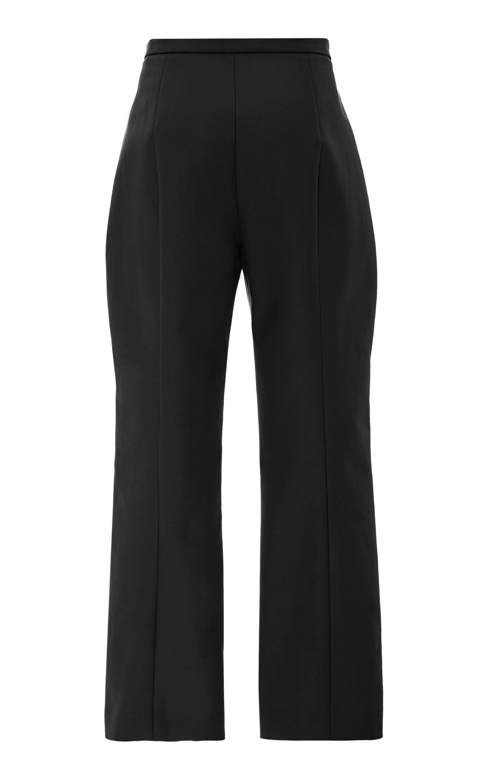 Khaite Cotton Audrey Pant in Black