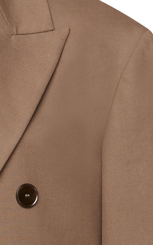 Rochas Cotton Onezca Double Breasted Blazer in Grey (Grey)