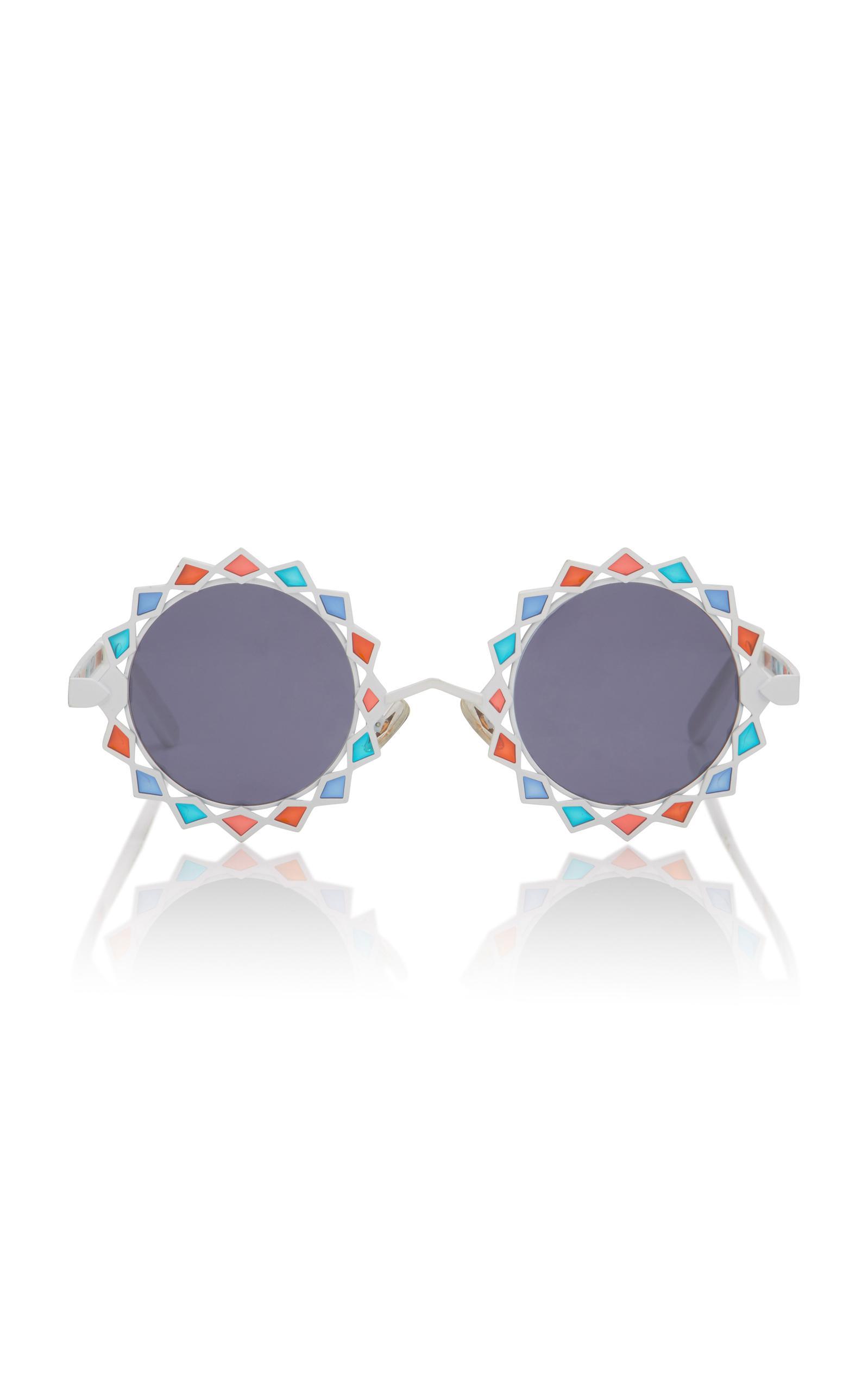 Lyst - Pared Eyewear Moon & Stars Acetate Round-frame Sunglasses
