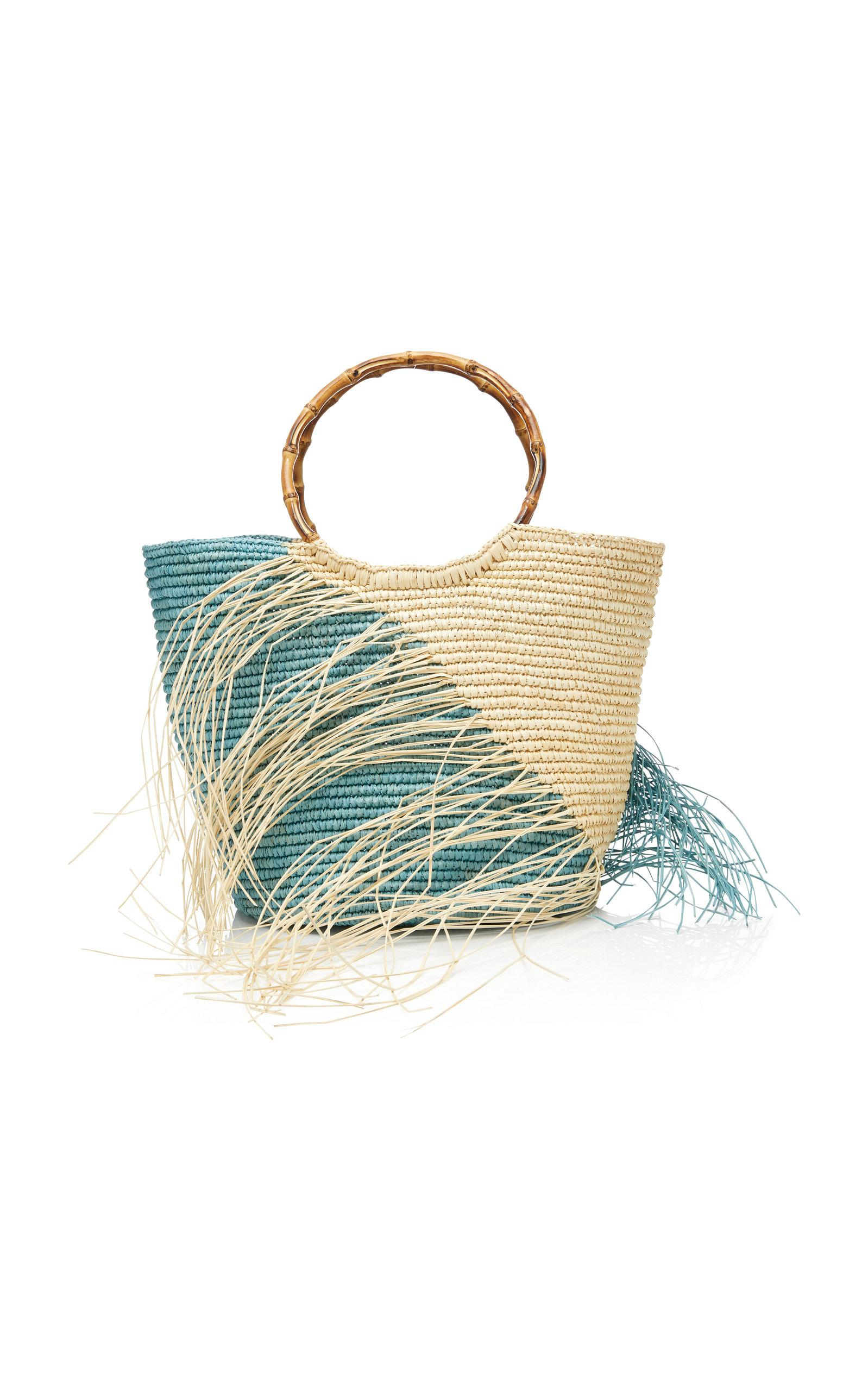 Sensi Studio Maxi Striped Two-Tone Toquilla Straw Tote Zw1yjtpw