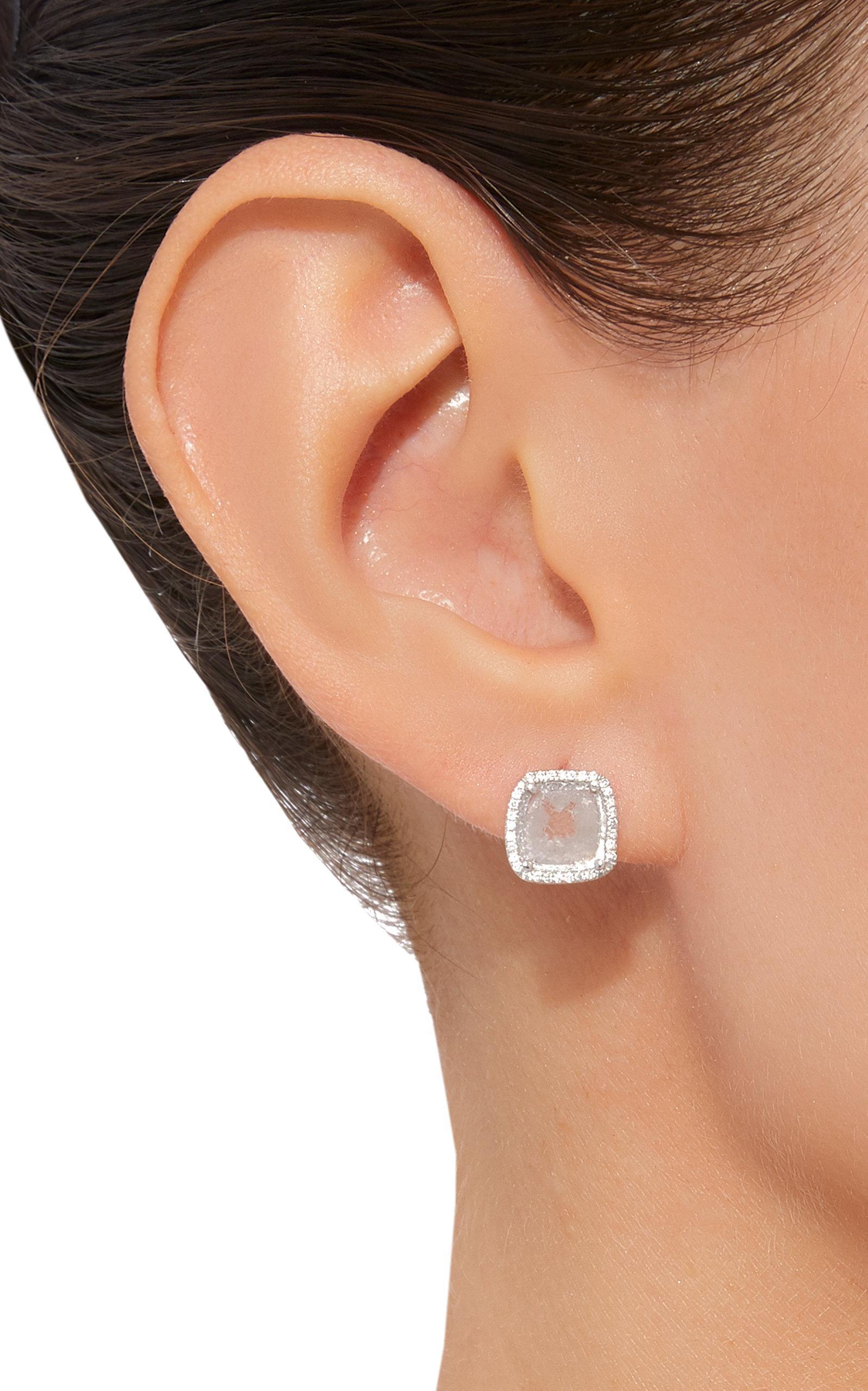 Lyst Nina Runsdorf M o Exclusive e of a kind Slice Diamond Stud