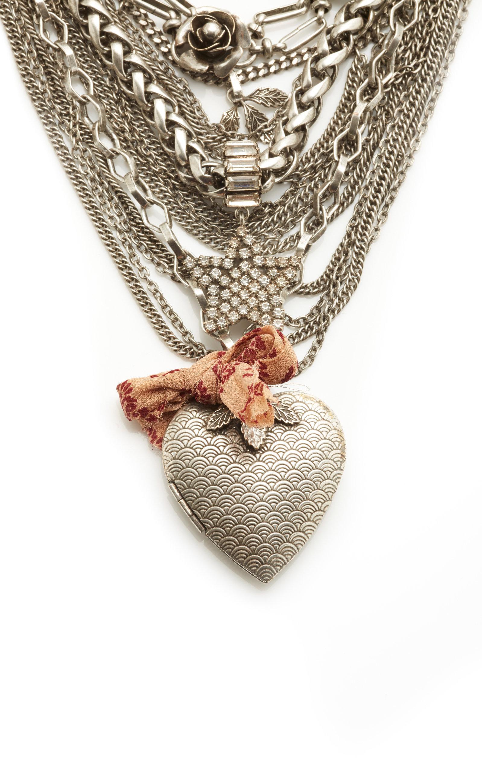 DANNIJO Zinnia Necklace in Silver (Metallic)