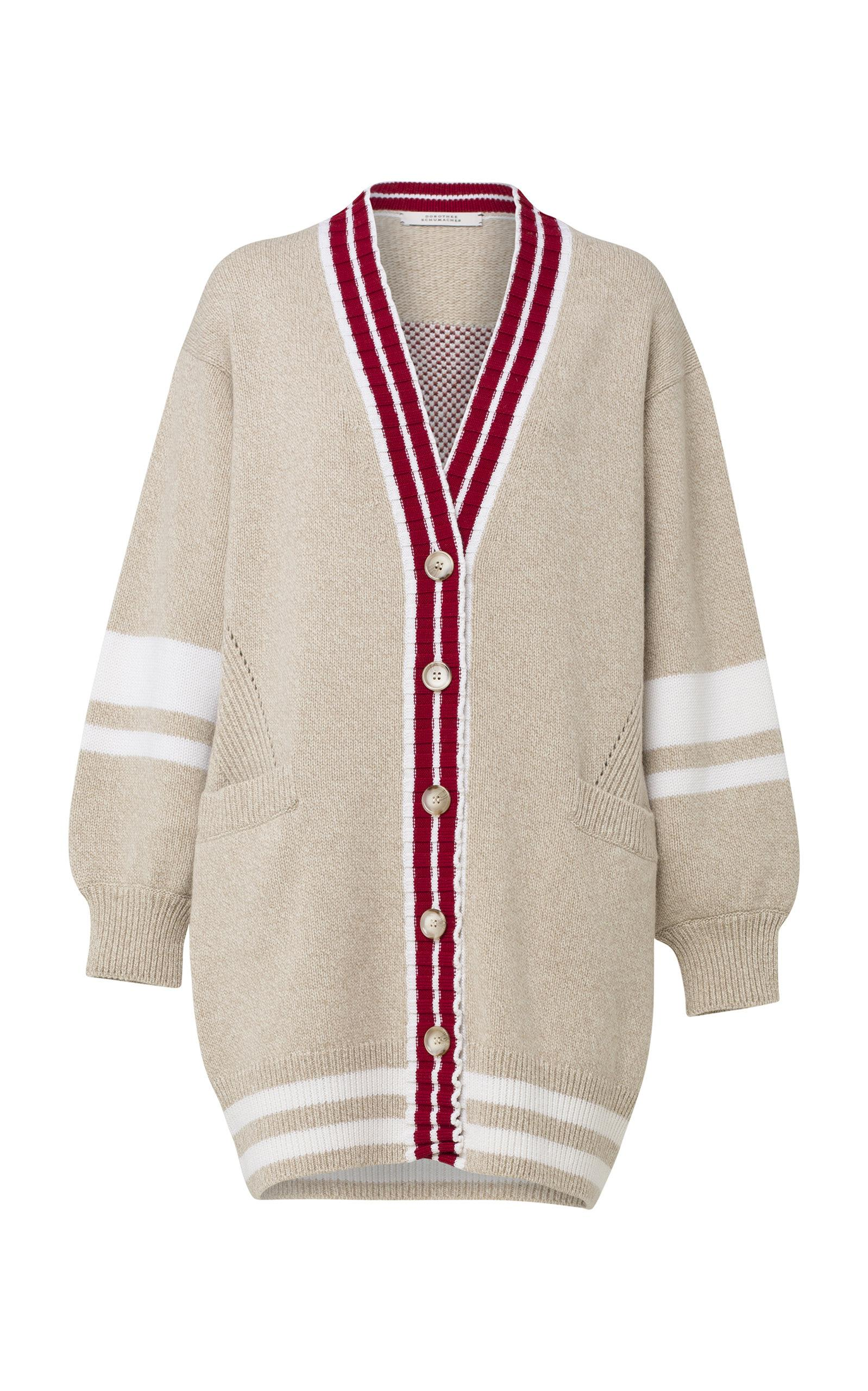 Dorothee Schumacher Fringe Vitality Striped Wool-blend Cardigan - Lyst ccaac96f8