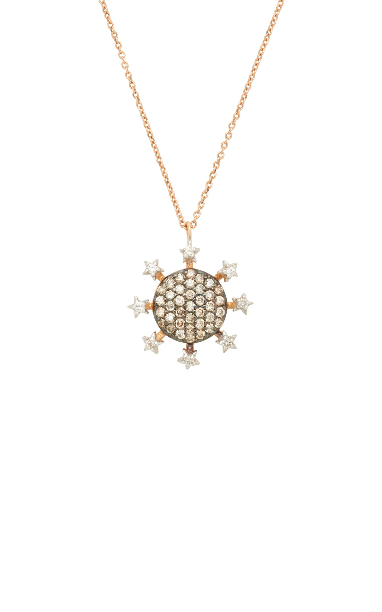 Kismet by Milka Eclectic White & Champagne Diamond Star Necklace 8WbwaSi