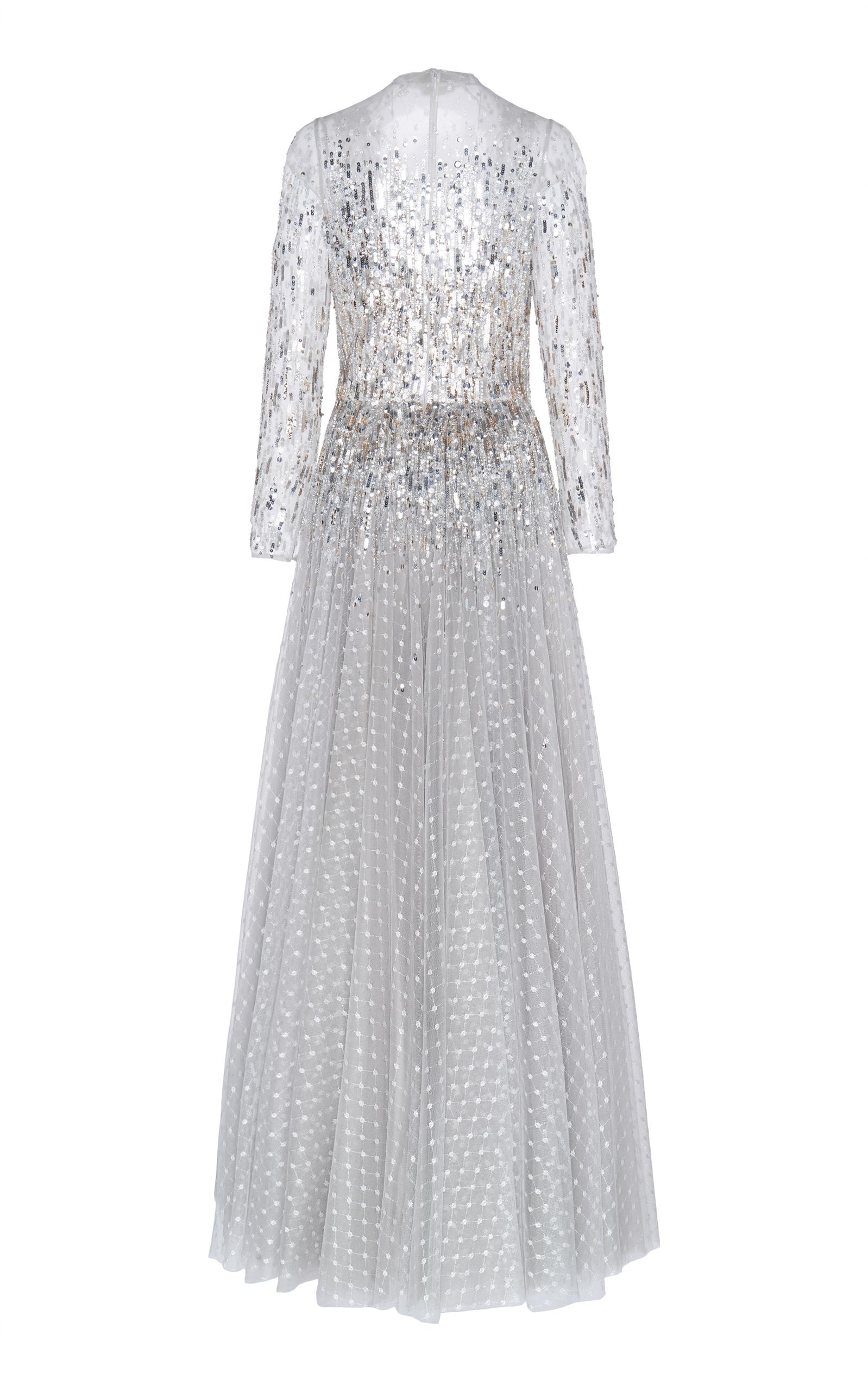Jenny Packham Blanche Sequin Bodice Gown in Metallic - Lyst