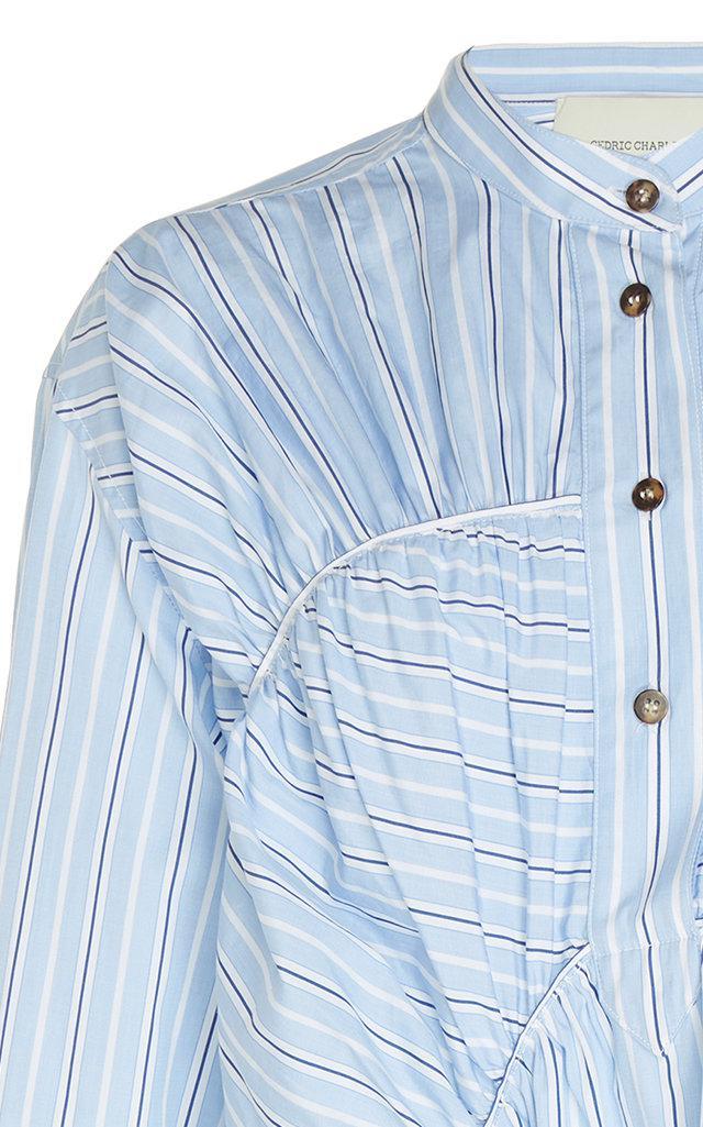 7e48abc69f8 ... Blue Asymmetric Cotton Dress - Lyst. View fullscreen