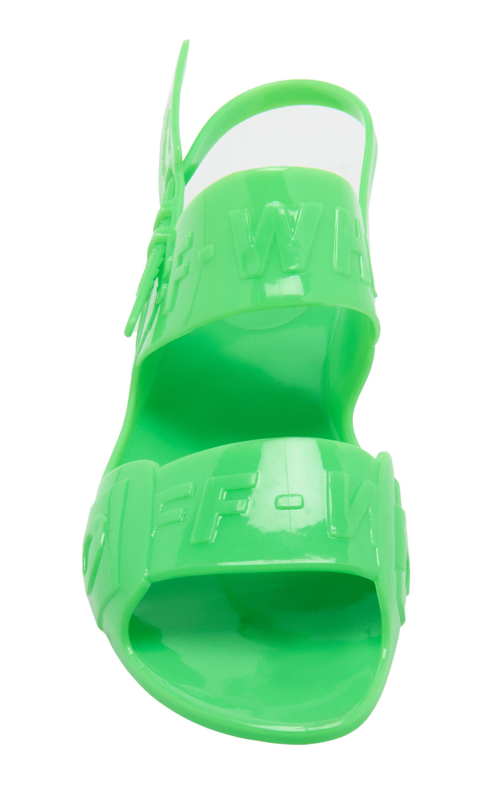 756eb589c7ce Off-White c/o Virgil Abloh Zip-tie Vinyl Sandals in Green - Lyst