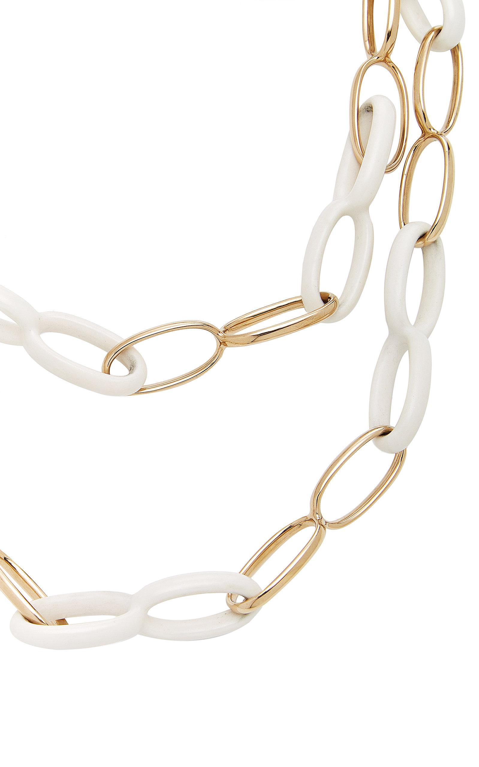 Vhernier Ottovolante Necklace in White