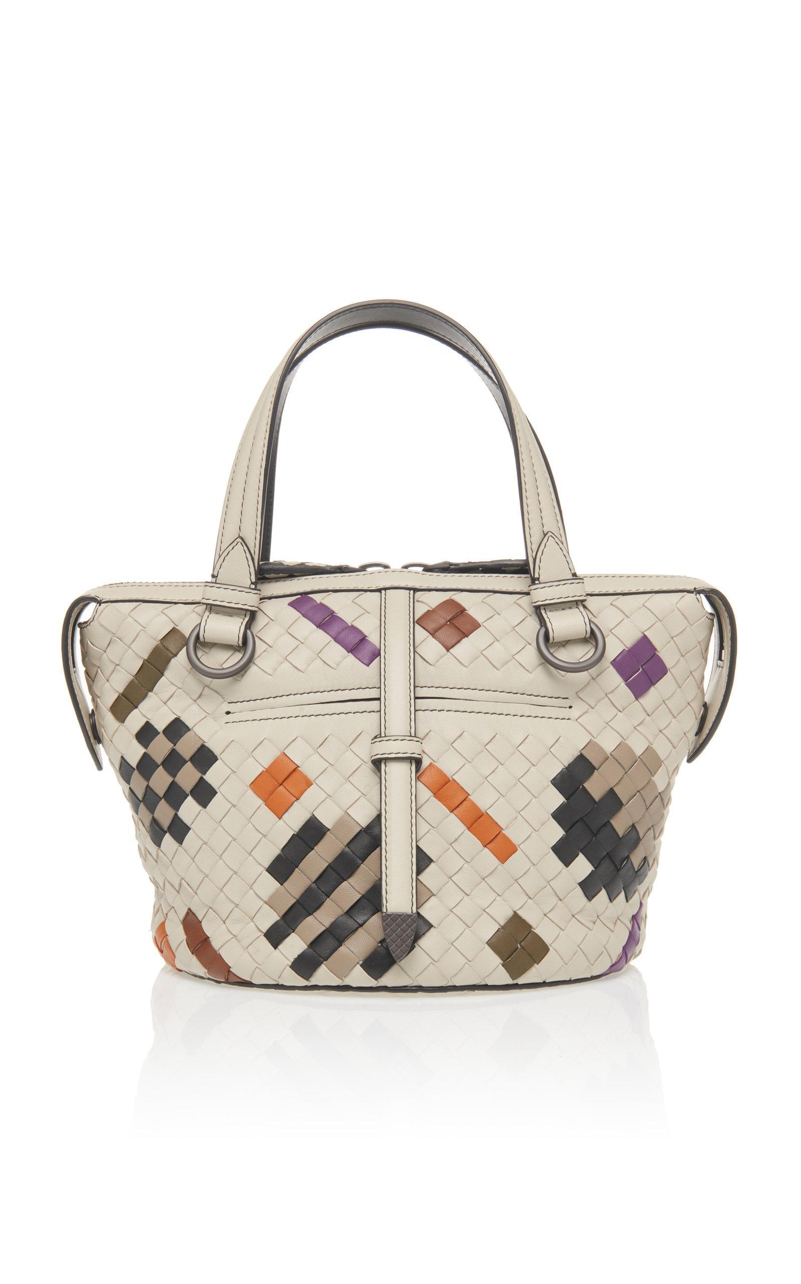 Bottega Veneta Small Tambura Top Handle Bag in White - Lyst 5d79a0ab26b29